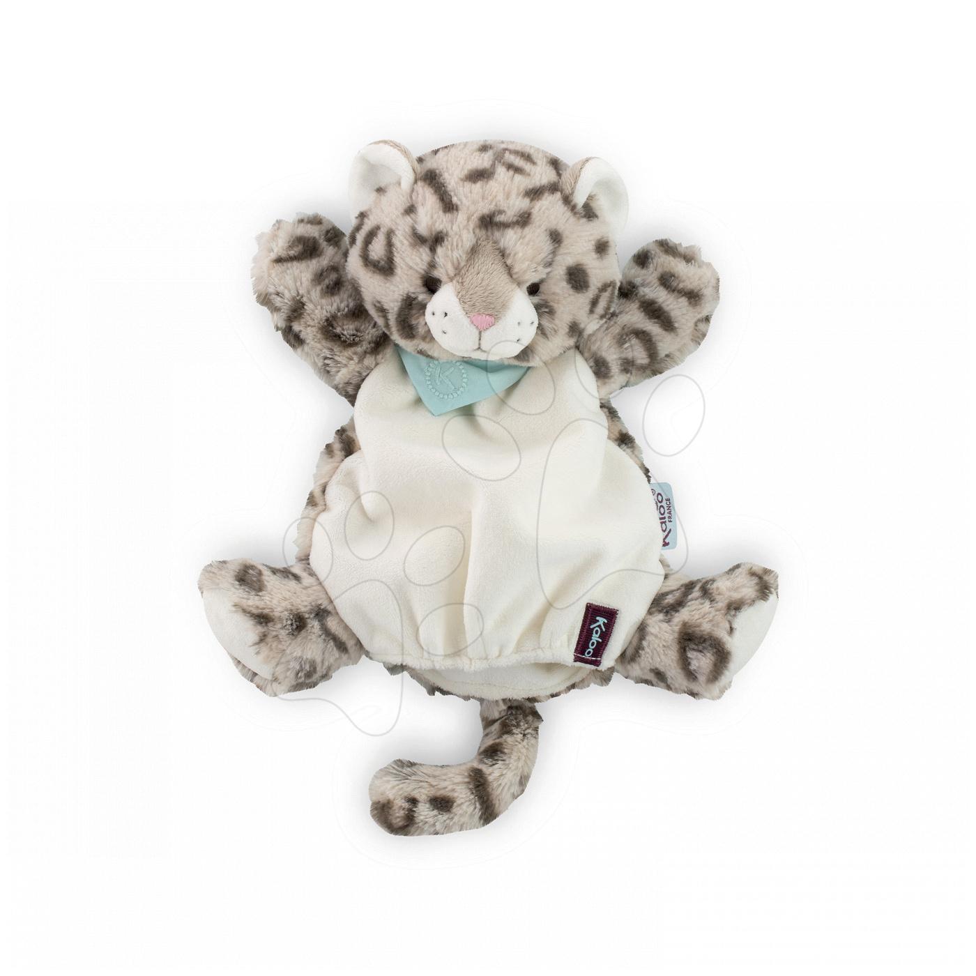 Plyšový leopard bábkové divadlo Les Amis-Leopard Doudou Kaloo 30 cm pre najmenších