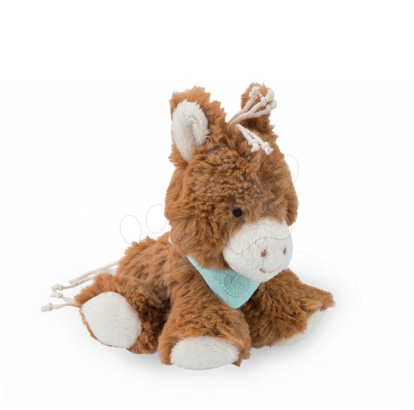 Plyšové zvieratká - Plyšový koník Mocha Les Amis-Cheval Kaloo 12 cm v darčekovom balení pre najmenších