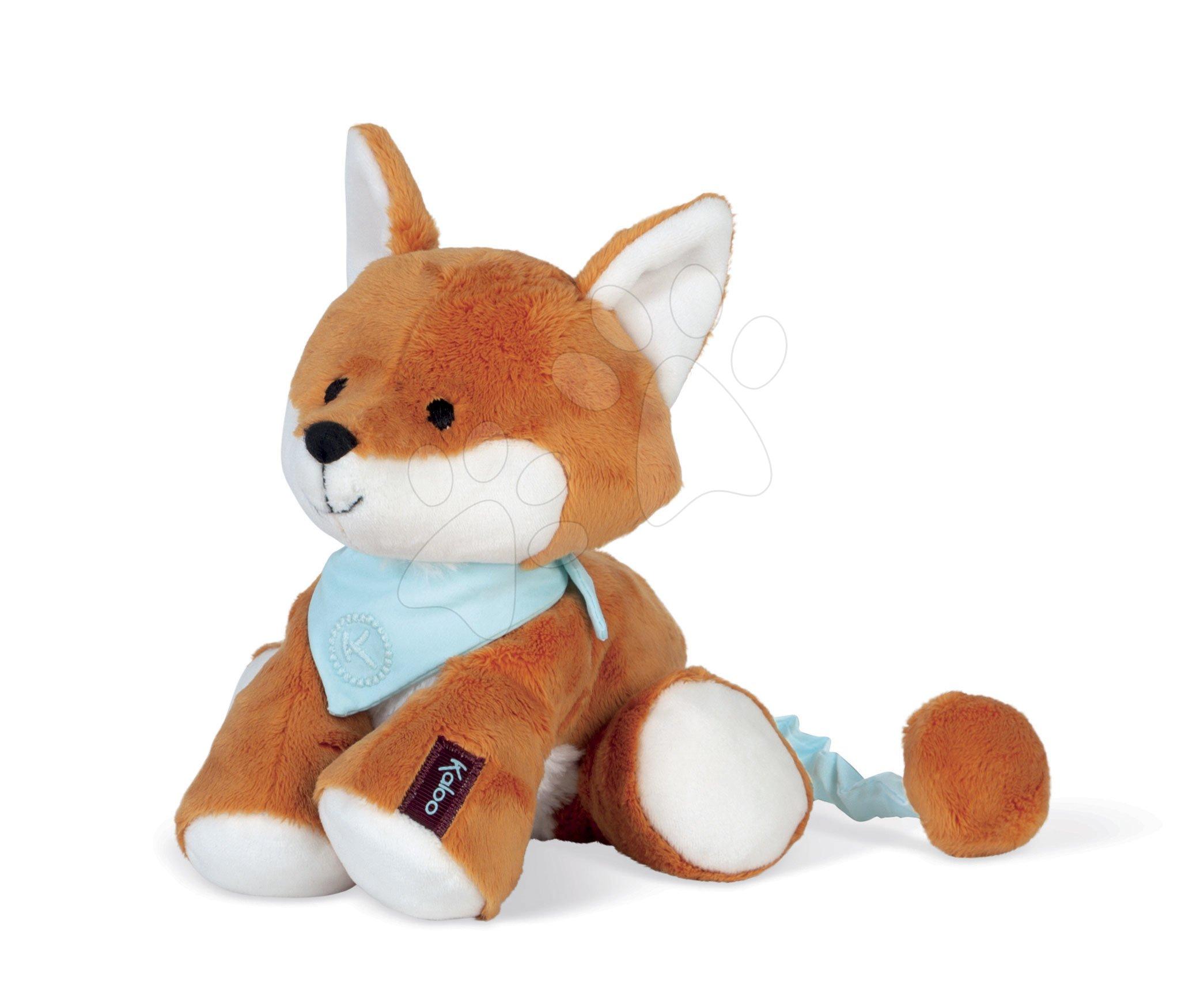 Plyšová liška s hudbou Paprika Music Fox Les Amis Kaloo rezavá 25 cm z jemného materiálu od 0 měsíců