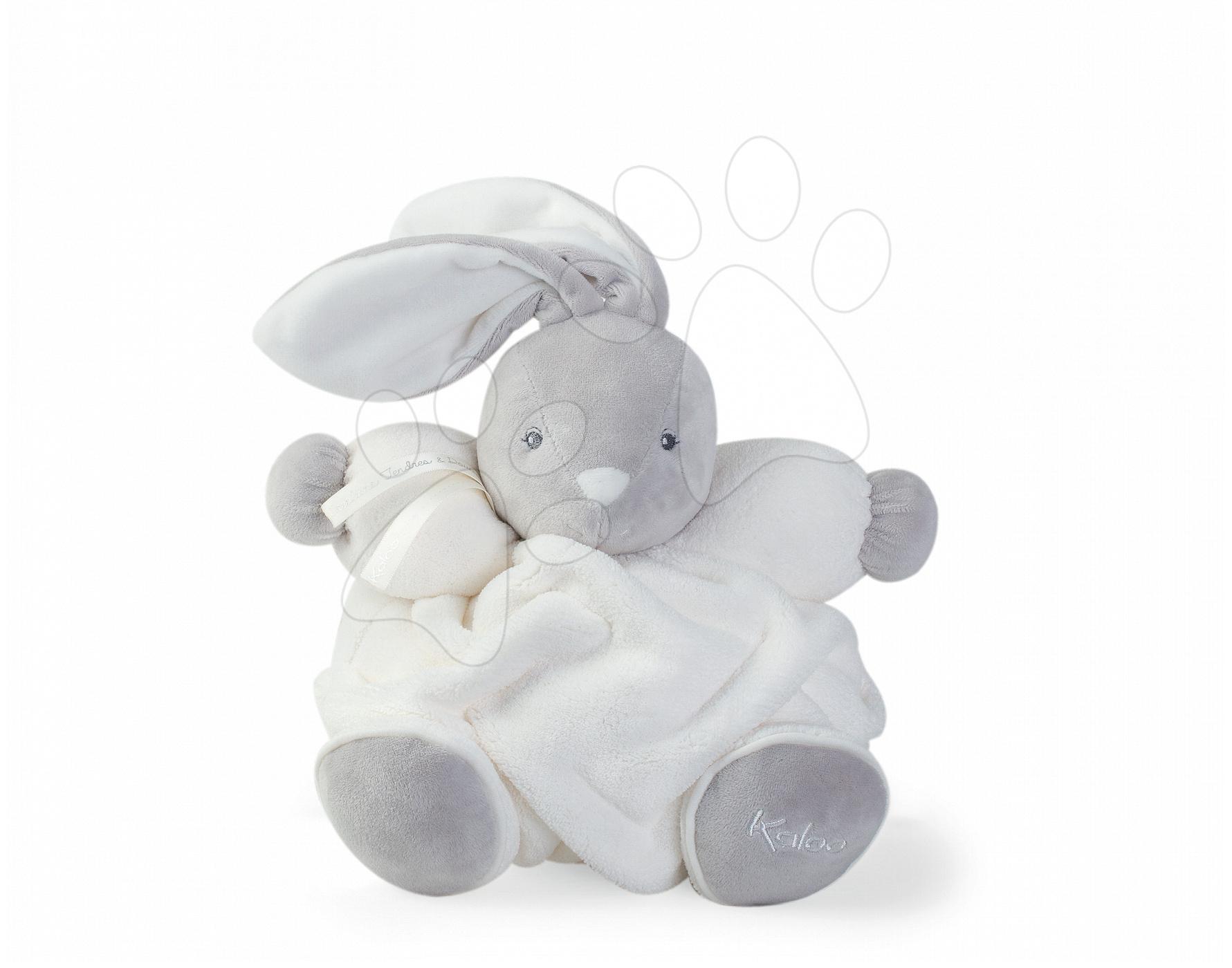Plyšový zajačik Plume Chubby Kaloo 25 cm v darčekovom balení pre najmenšie deti krémový