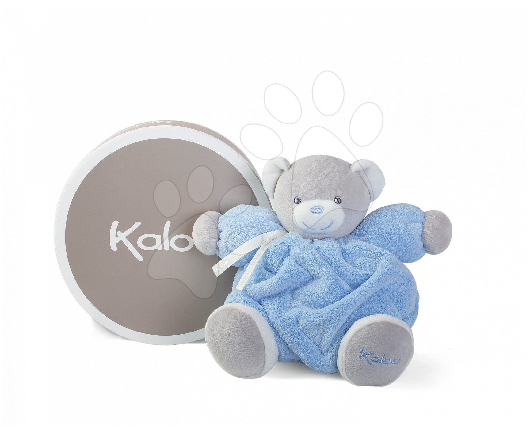 Plyšový macko pre najmenších Plume Chubby Kaloo 25 cm v darčekovom balení modrý