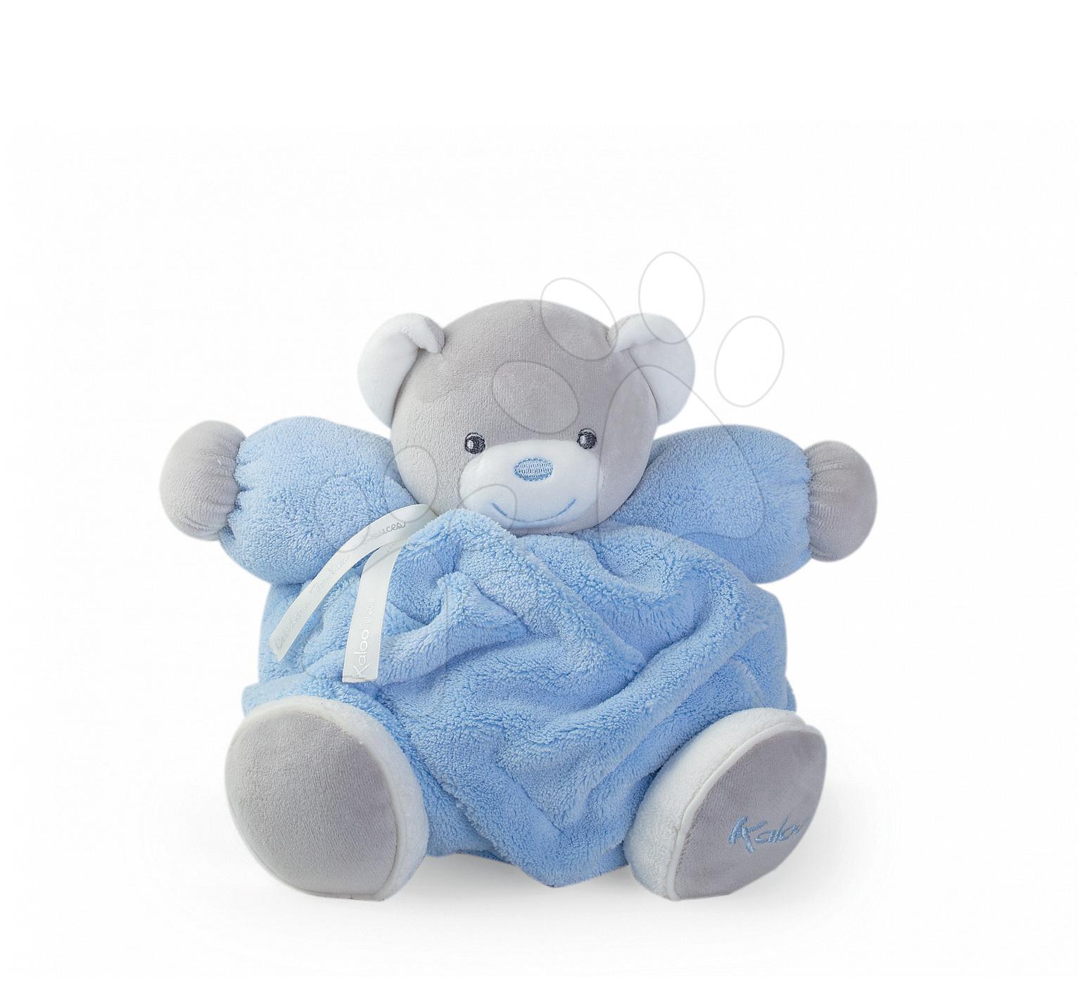 Plyšový medvídek pro nejmenší Plume Chubby Kaloo 25 cm v dárkovém balení modrý od 0 měsíců