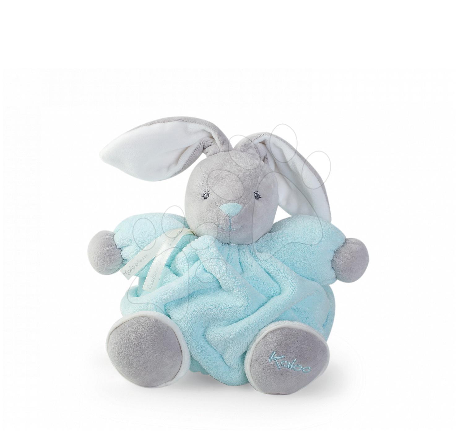 Plyšový králíček Mini Plume Doudou Kaloo 12 cm pro nejmenší tyrkysový