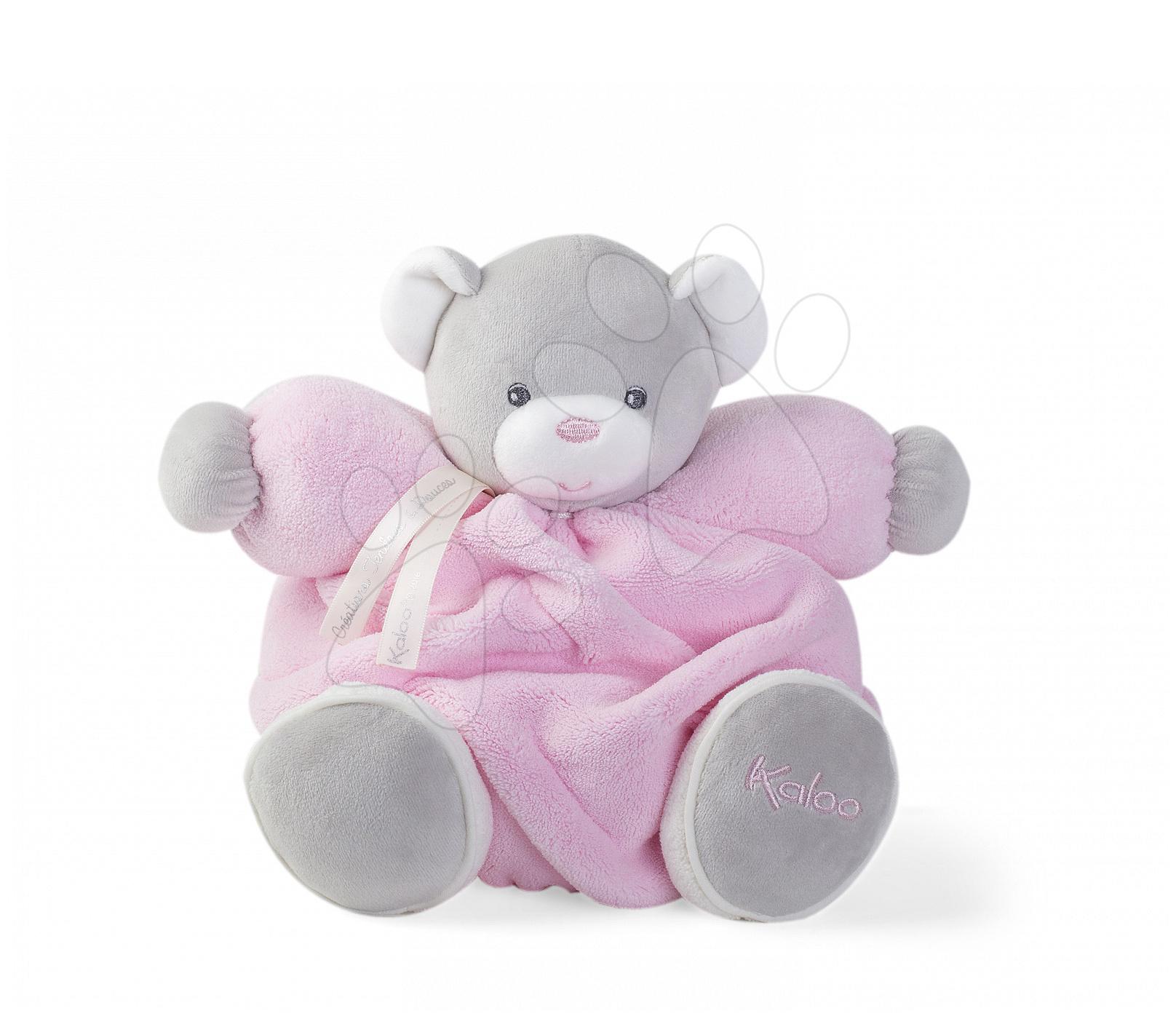 Plyšový medvídek Plume Chubby Kaloo 25 cm v dárkovém balení pro nejmenší růžový od 0 měsíců