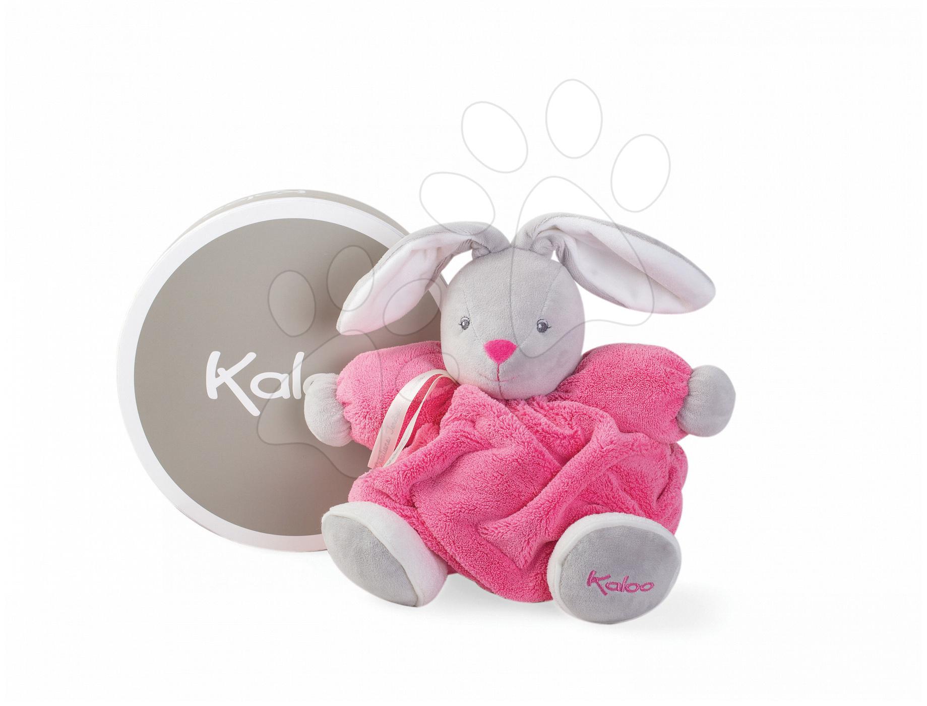 Plyšový zajačik Plume Chubby Kaloo 25 cm v darčekovom balení pre najmenšie deti ružový