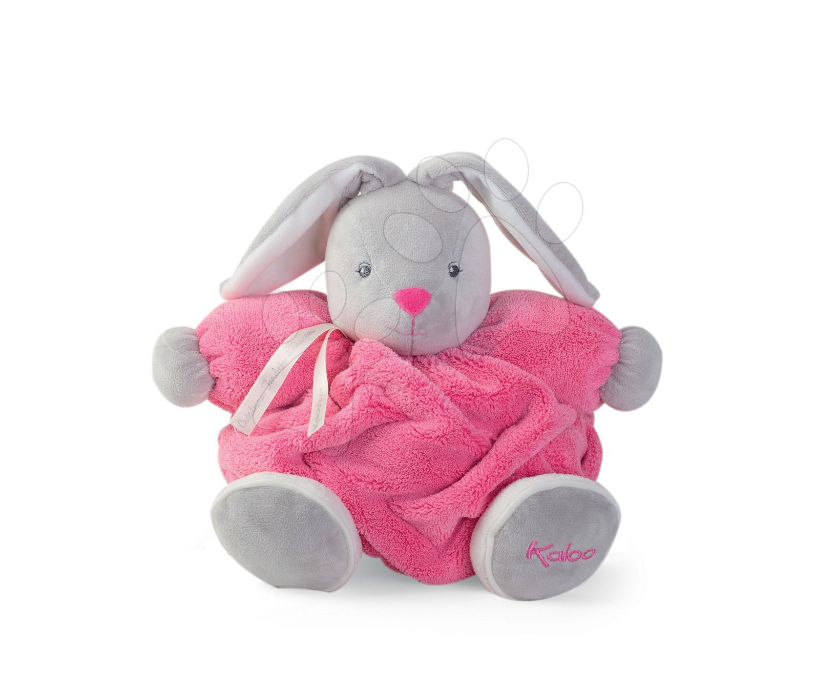 Plüss nyuszi Plume Chubby Kaloo 25 cm ajándékcsomagolásban legkisebbeknek rózsaszín