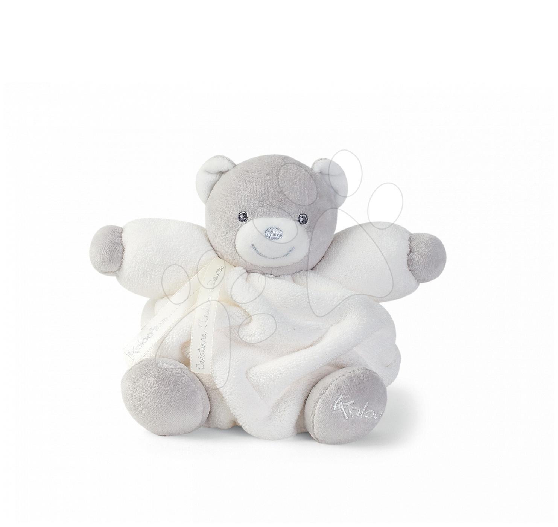 Plyšový medvedík Plume Chubby Kaloo 18 cm v darčekovom balení pre najmenšie deti krémový