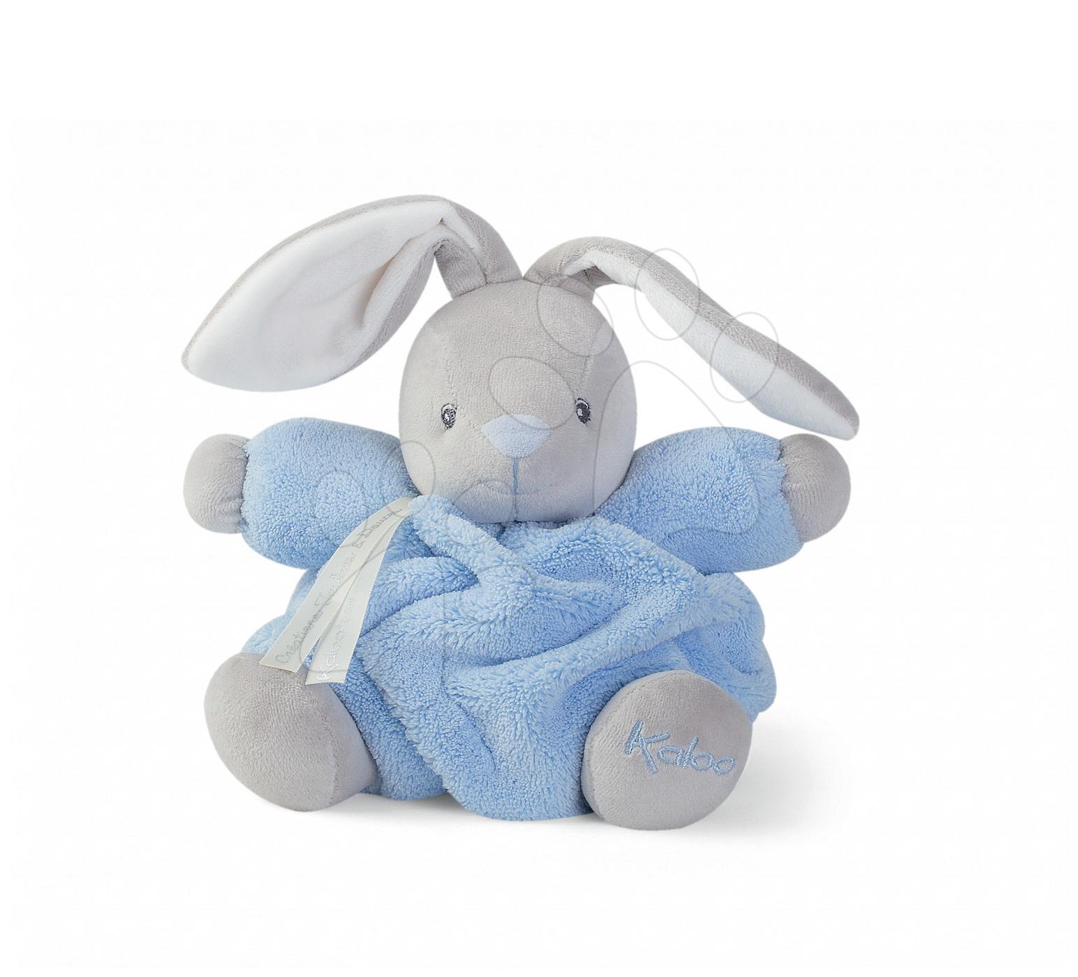 Plyšový zajíček Plume Chubby Kaloo 18 cm v dárkovém balení modrý