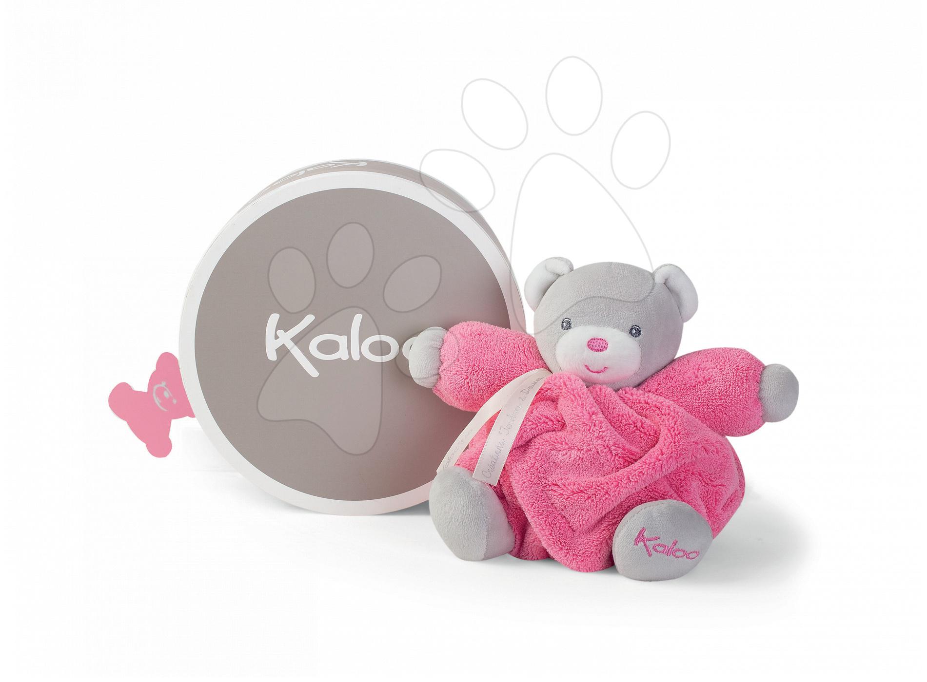 Plyšový medvedík Plume Chubby Kaloo 18 cm v darčekovom balení pre najmenšie deti ružový