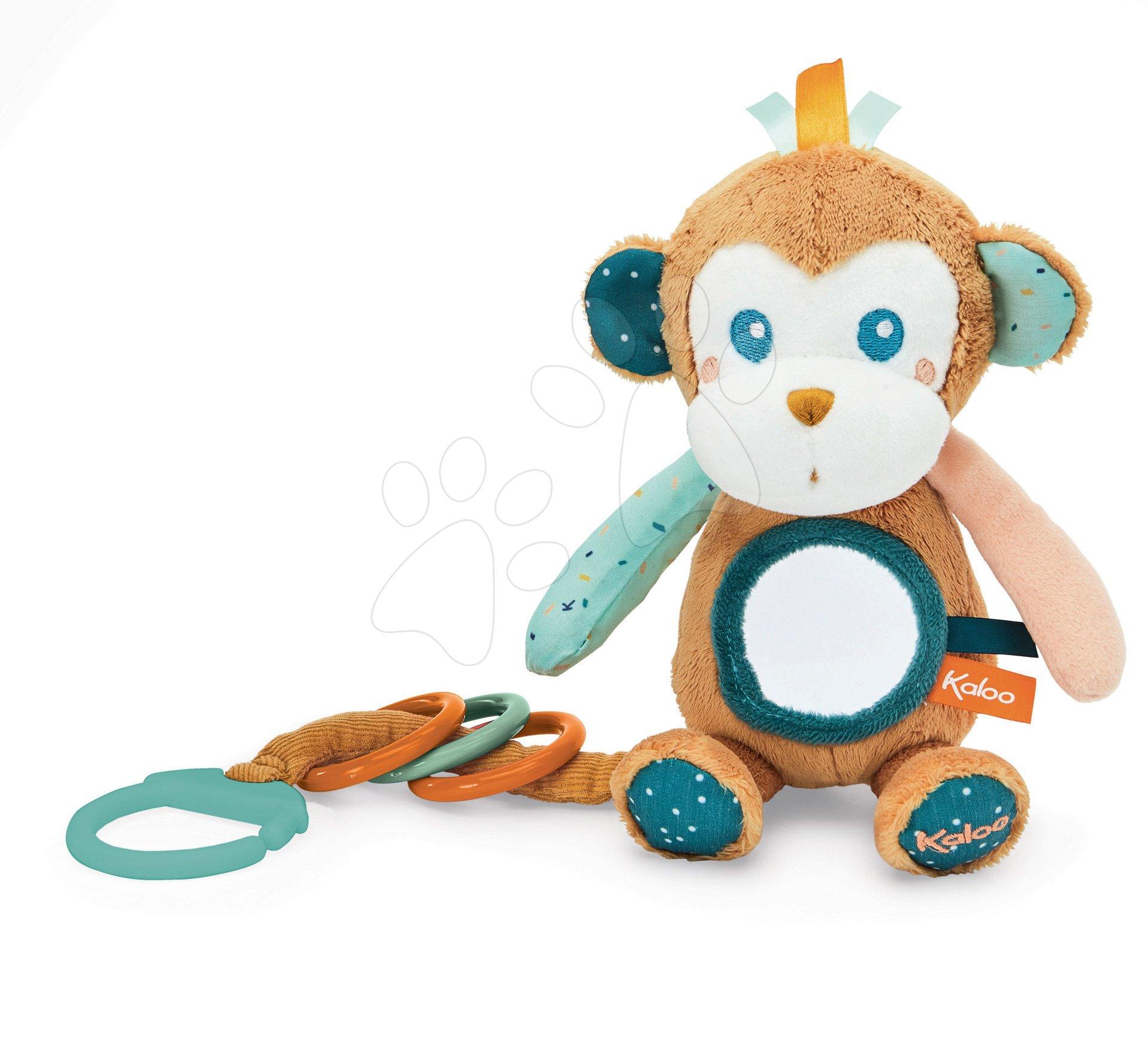 Hrkálka so zrkadlom Opica Sam Kaloo pre najmenších od 0 mes