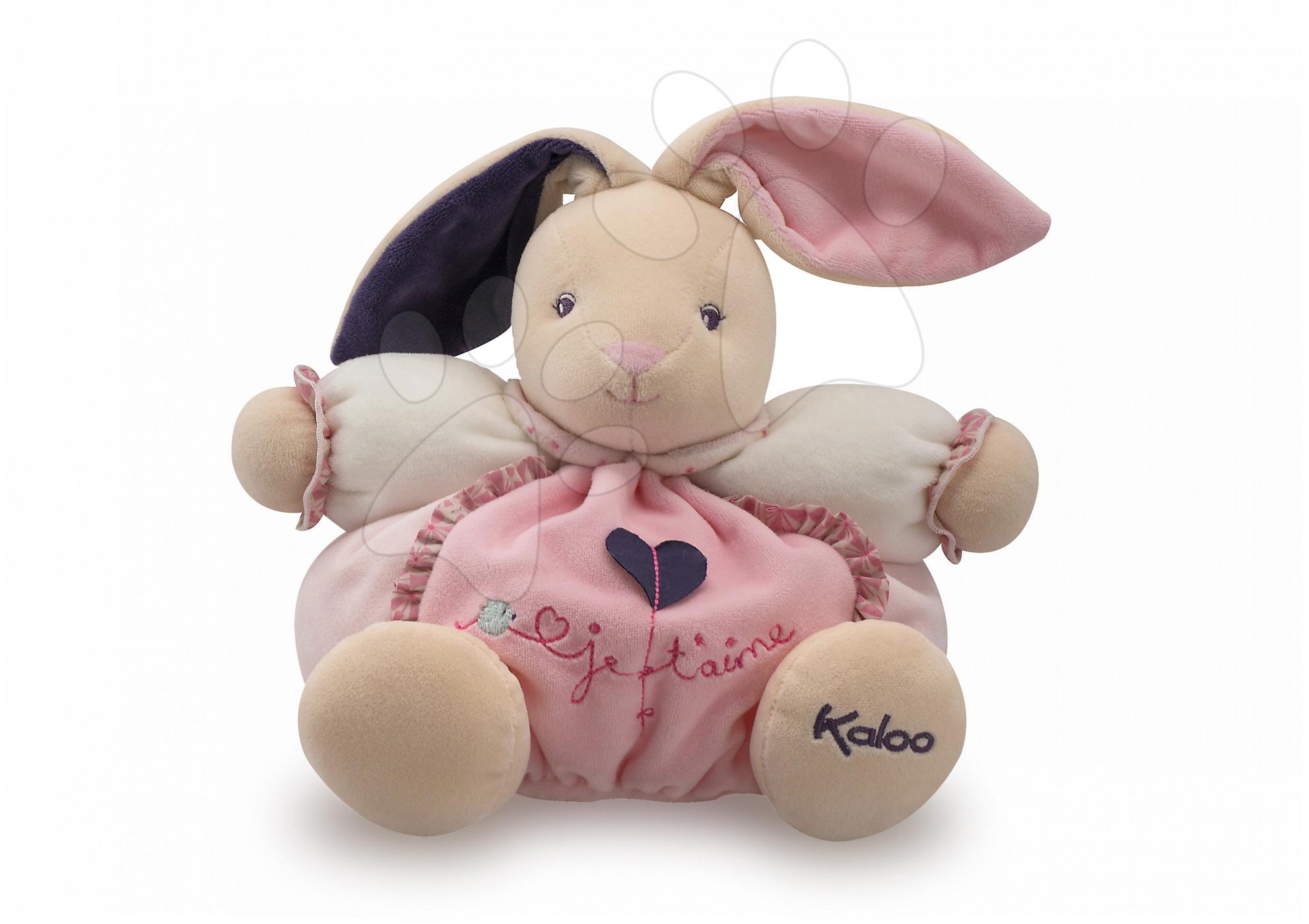Plyšový zajačik Petite Rose-Chubby Rabbit Love Kaloo 25 cm v darčekovom balení pre najmenších ružový