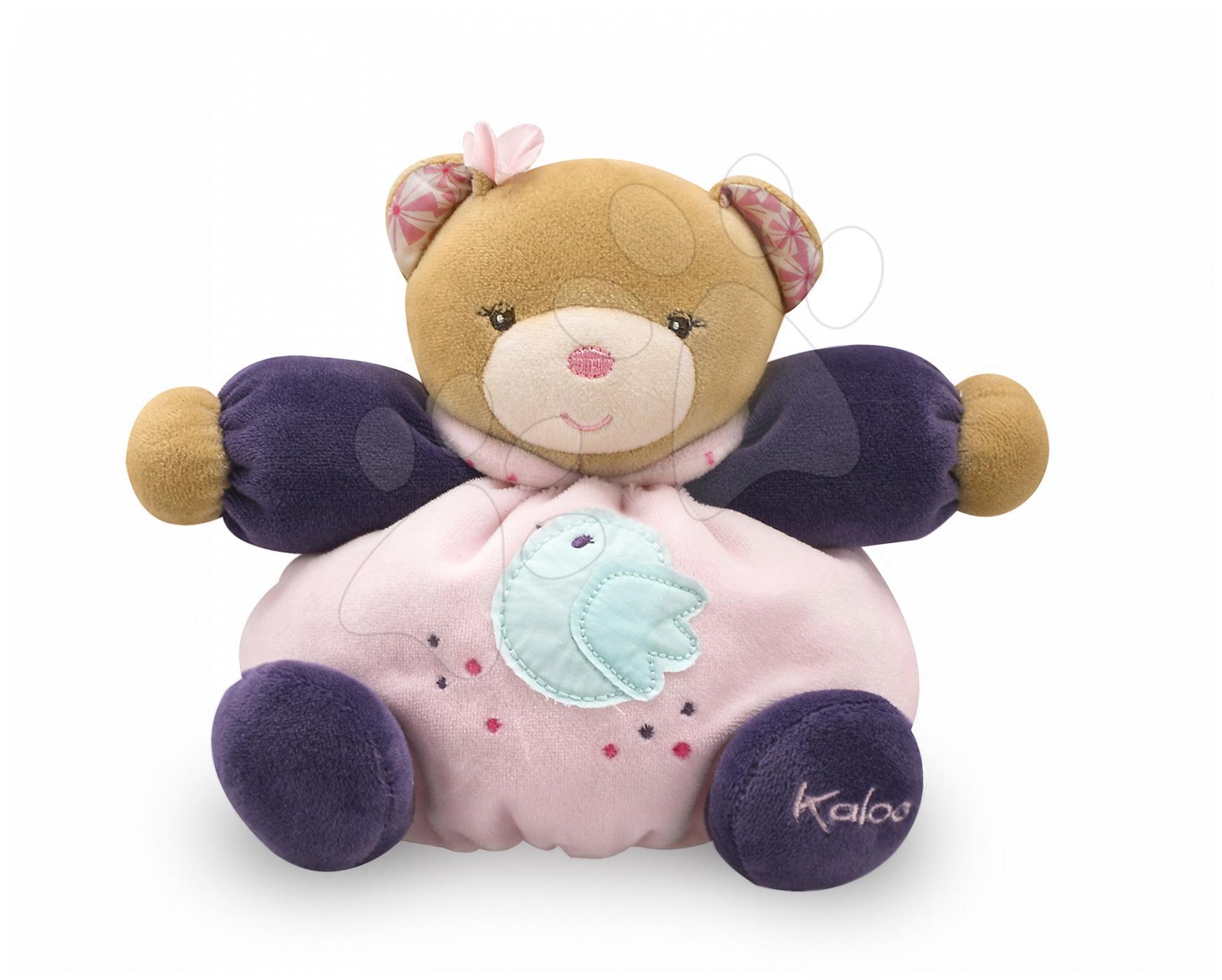 Plyšové medvede - Plyšový medvedík Petite Rose-Friendly Chubby Bear Kaloo 18 cm v darčekovom balení pre najmenších ružový