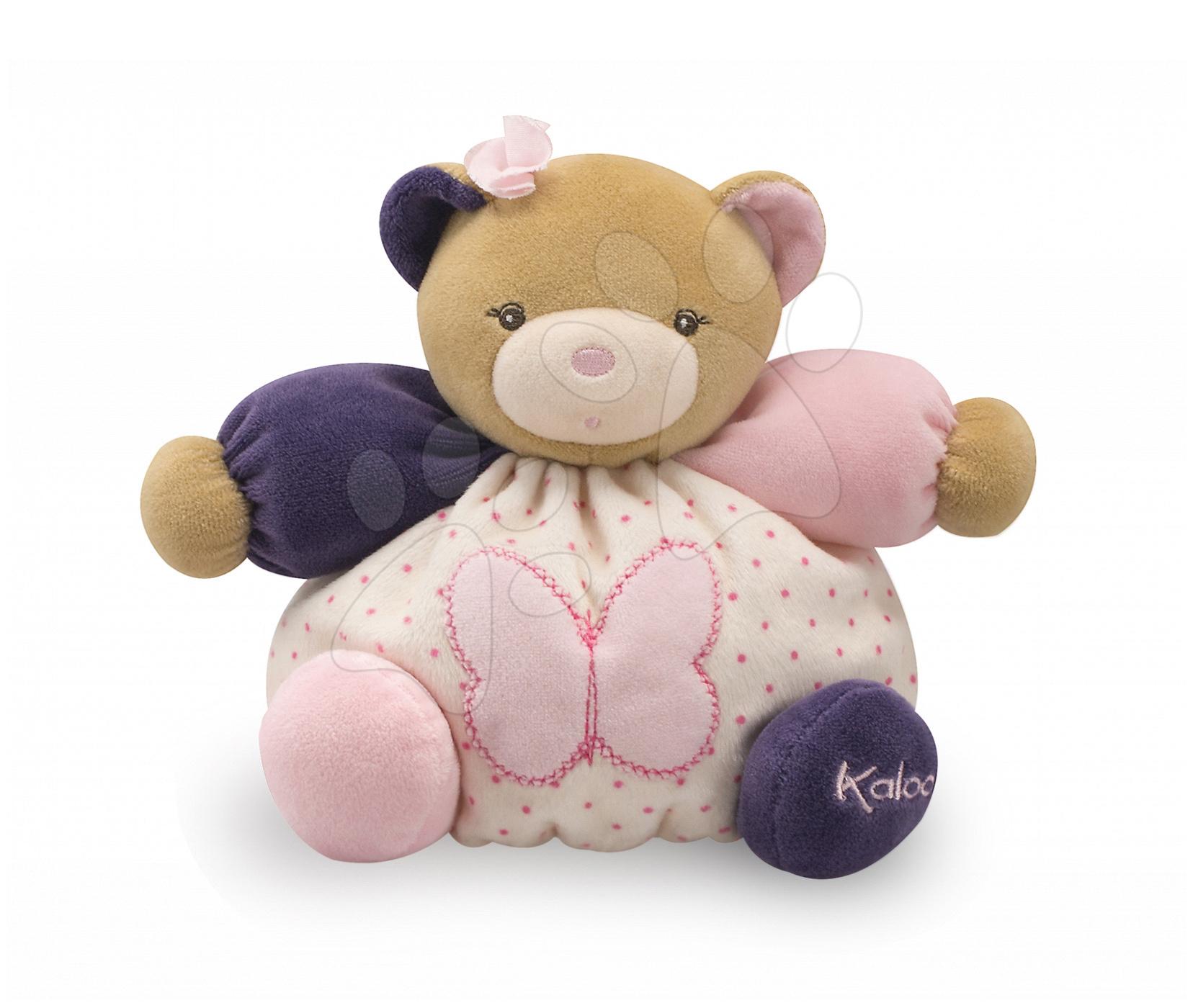 Plyšové medvede - Plyšový medvedík Petite Rose-Chubby Bear Butterfly Kaloo 18 cm v darčekovom balení pre najmenších ružový