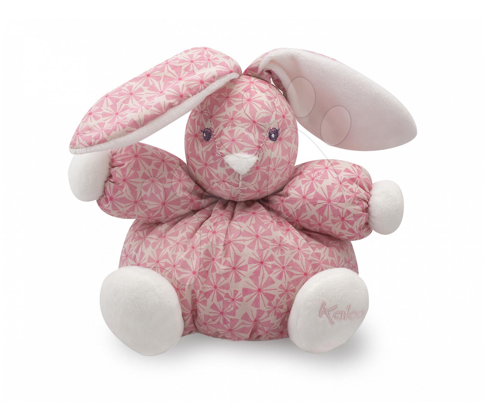Hračky pre bábätká - Plyšový zajačik Petite Rose-Chubby Rabbit Kaloo 18 cm v darčekovom balení pre najmenších ružový