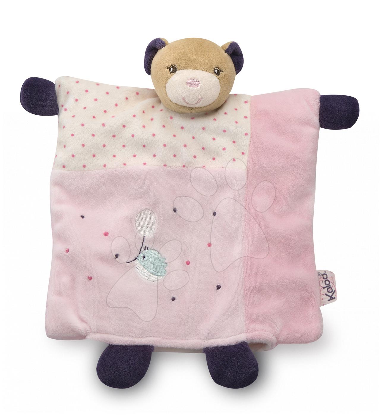 Hračky na maznanie a usínanie - Plyšový medvedík bábkové divadlo Petite Rose-Doudou Pretty Bear Kaloo s hryzátkom 20 cm v darčekovom balení pre najmenších