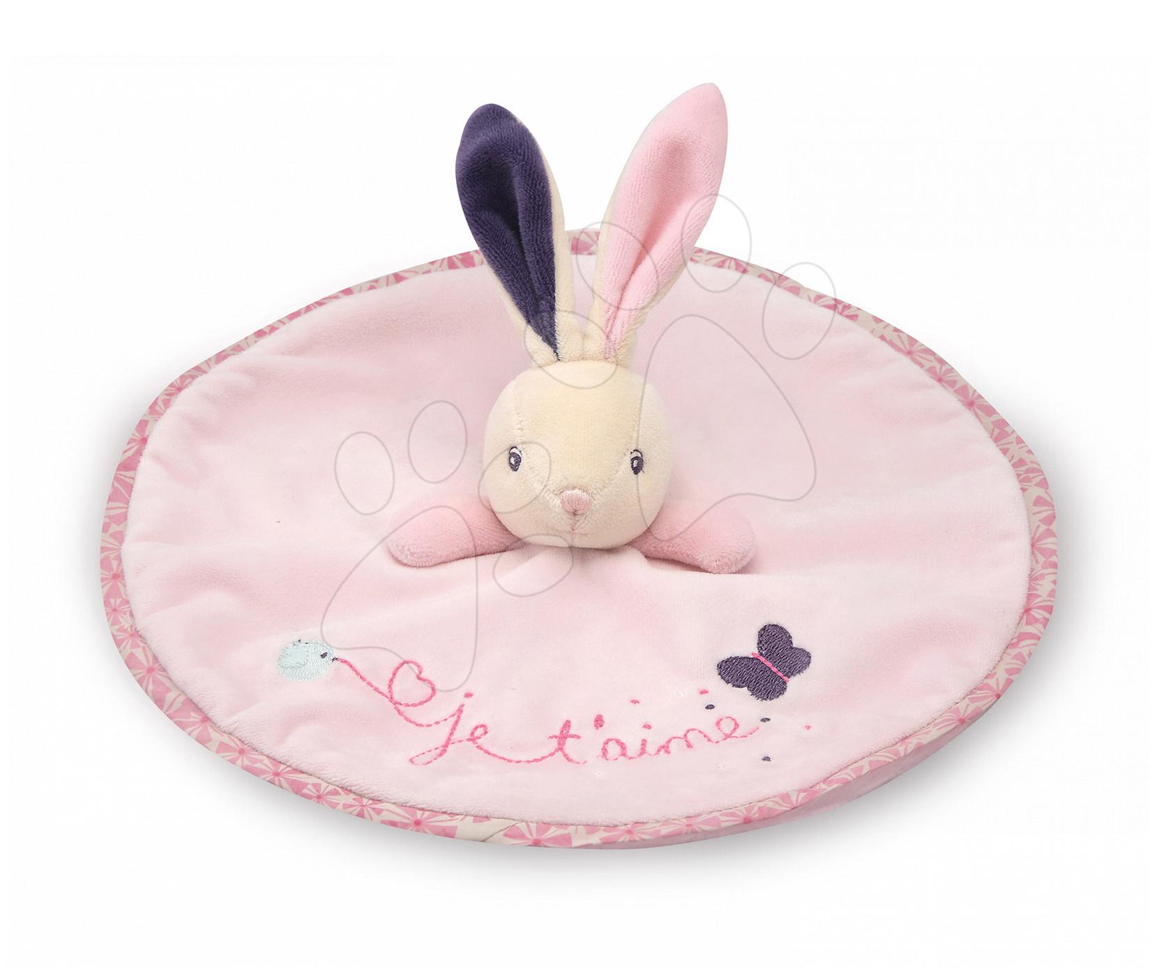 Hračky na maznanie a usínanie - Plyšový zajačik Petite Rose-Round Doudou Rabbit Love Kaloo 20 cm v darčekovom balení pre najmenších
