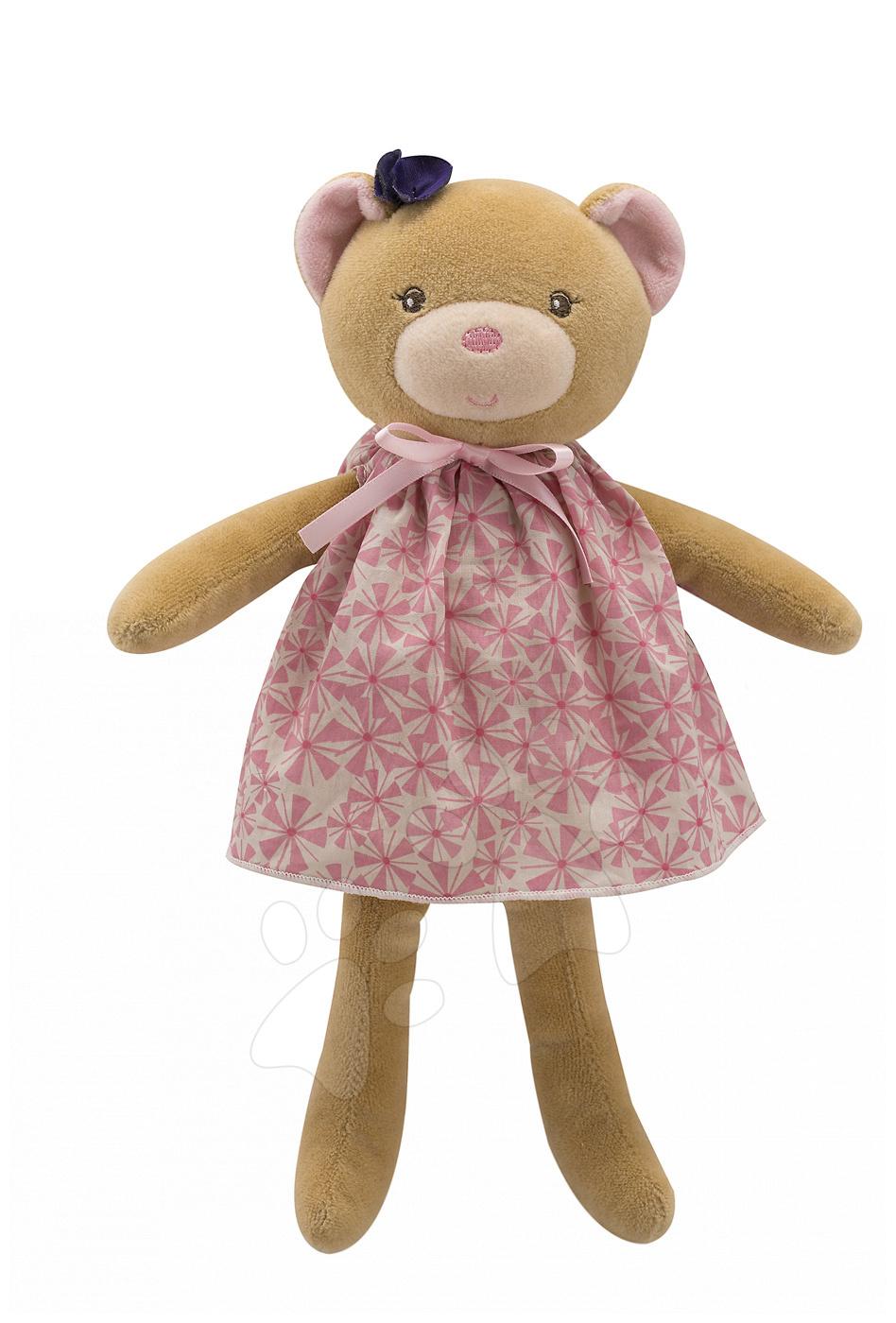 Handrové bábiky - Plyšový medvedík bábika Petite Rose-Bear Doll Kaloo 28 cm v darčekovom balení pre najmenších