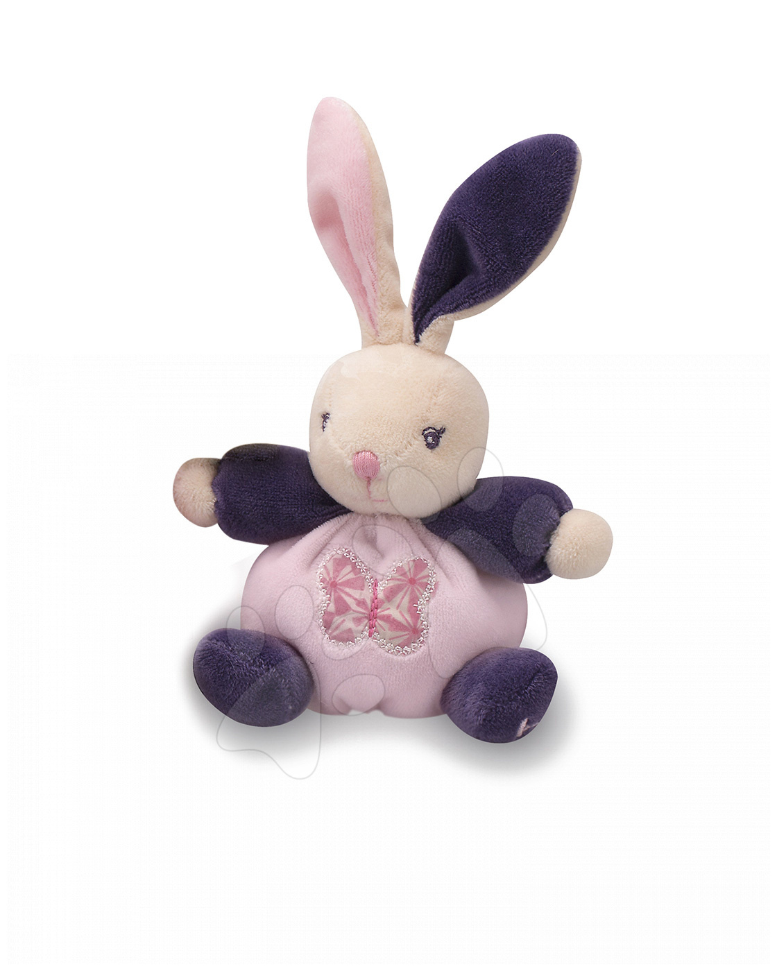Plyšový králíček Petite Rose-Mini Chubbies Kaloo 12 cm pro nejmenší