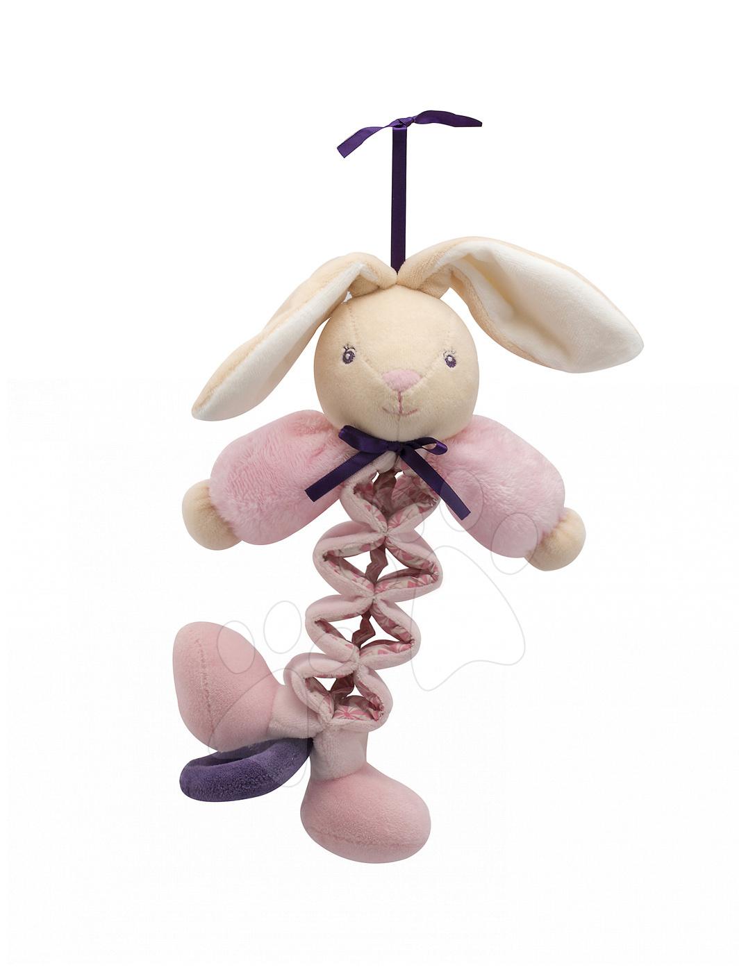 Hračky nad postieľku - Plyšový zajačik Petite Rose-Zig Music Rabbit Kaloo spievajúci naťahujúci 32-42 cm pre najmenších