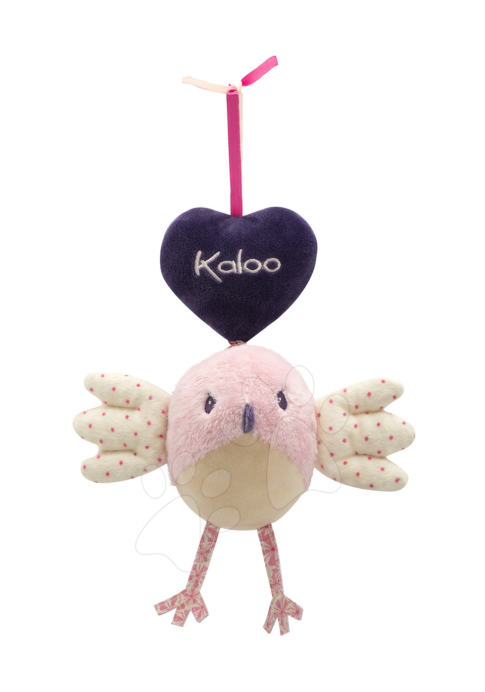 Hračky pre bábätká - Plyšový vtáčik Petite Rose-Music Bird Kaloo spievajúci 42-52 cm pre najmenších