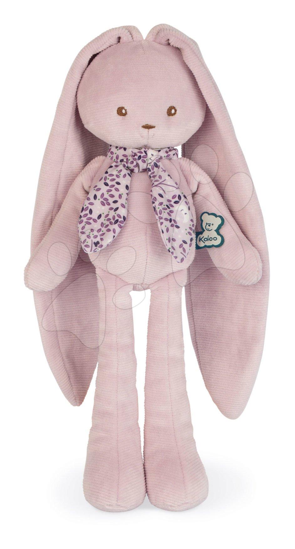 Zajček z dolgimi ušeski Doll Rabbit Pink Lapinoo Kaloo rožnati 35 cm iz nežnega materiala v darilni embalaži od 0 mes