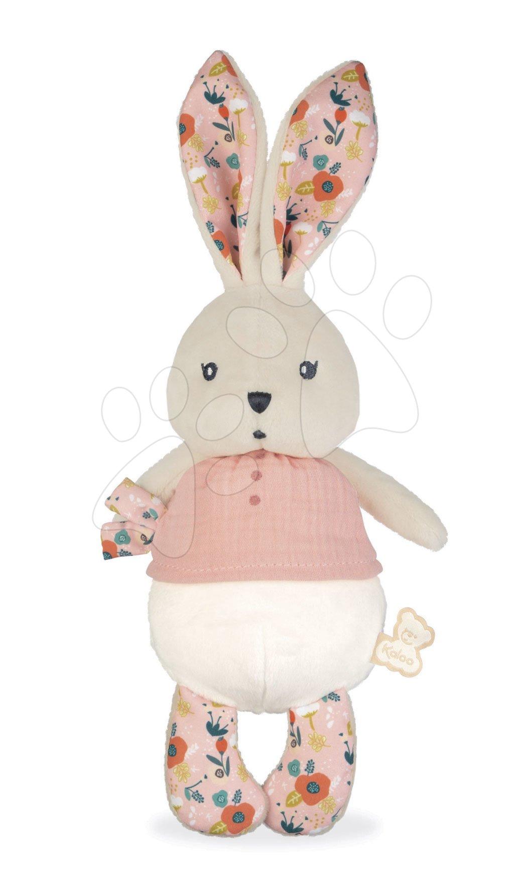 Handrová bábika zajačik Coquelicot Rabbit Doll Poppy K'doux Kaloo ružový 25 cm z jemného materiálu od 0 mes