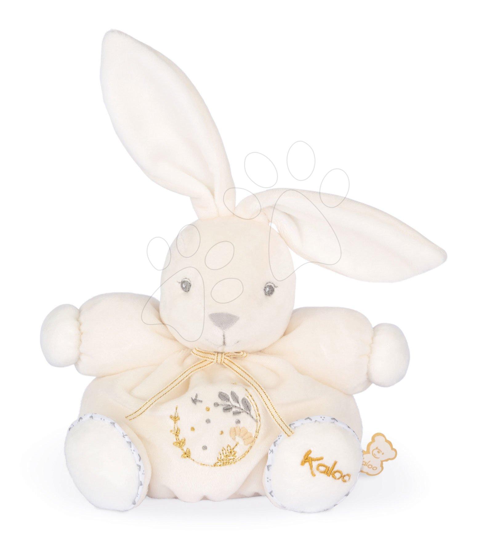 Plyšový zajíček s hudbou Chubby Musical Rabbit Cream Perle Kaloo krémový 18 cm 'All the pretty little horse' s melodií od 0 měsíců