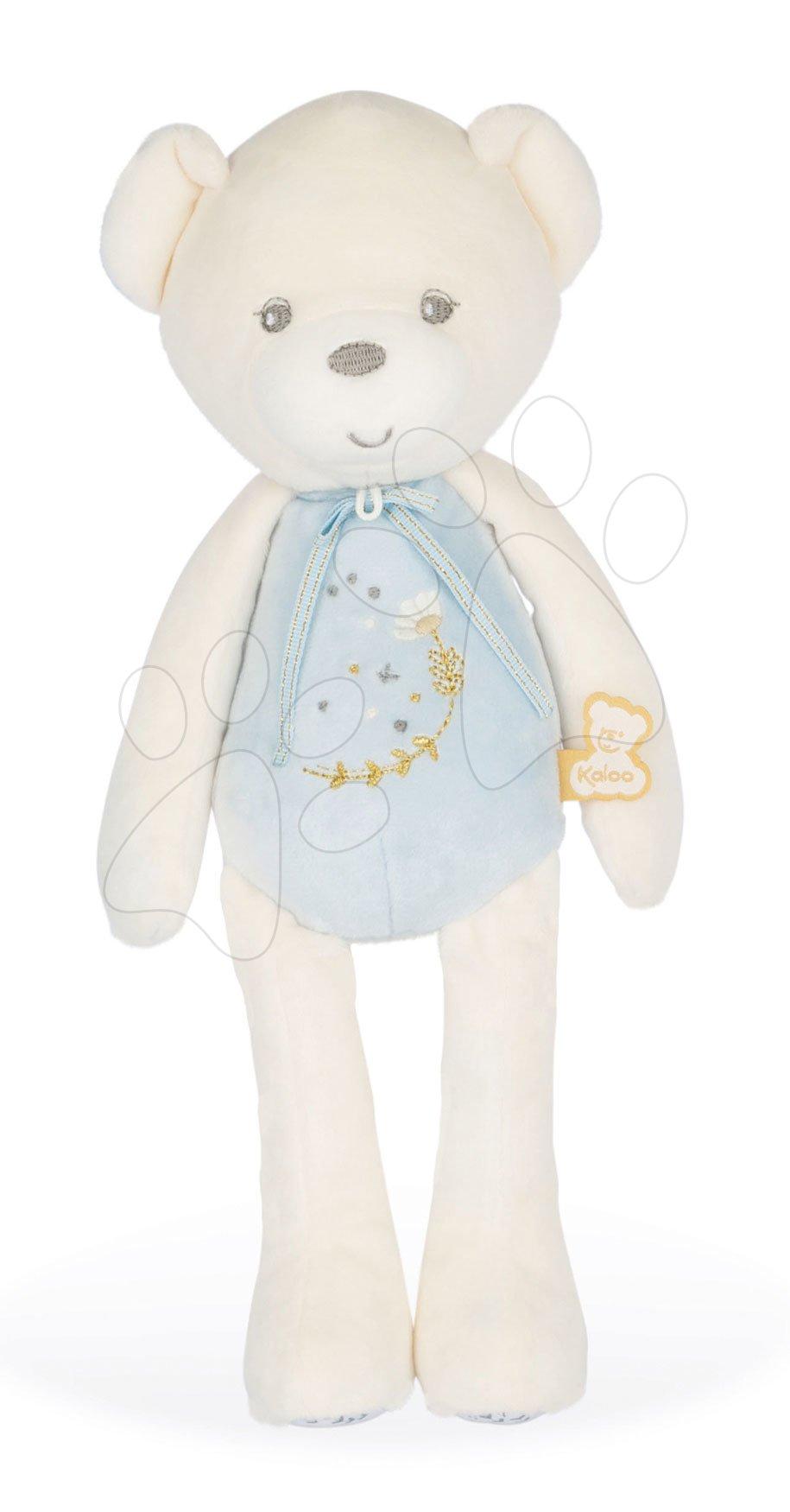 Plyšový medvěd s hudbou Musical Doll Bear Perle Kaloo modrý 35 cm s jemnou melodií z měkkého materiálu od 0 měsíců