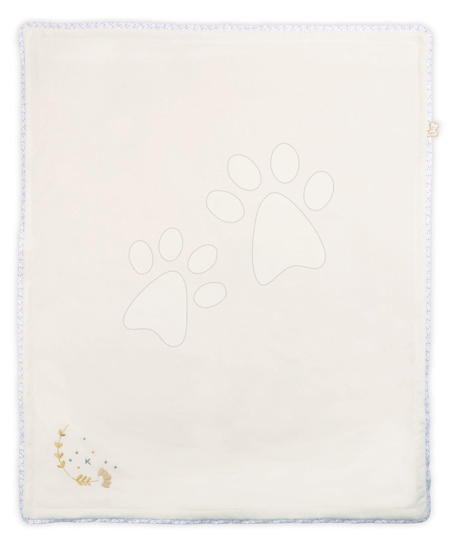 Deka pre najmenších My Super Soft Blanket Perle Kaloo biela 85*70 cm z mäkkého materiálu s výšivkou od 0 mes