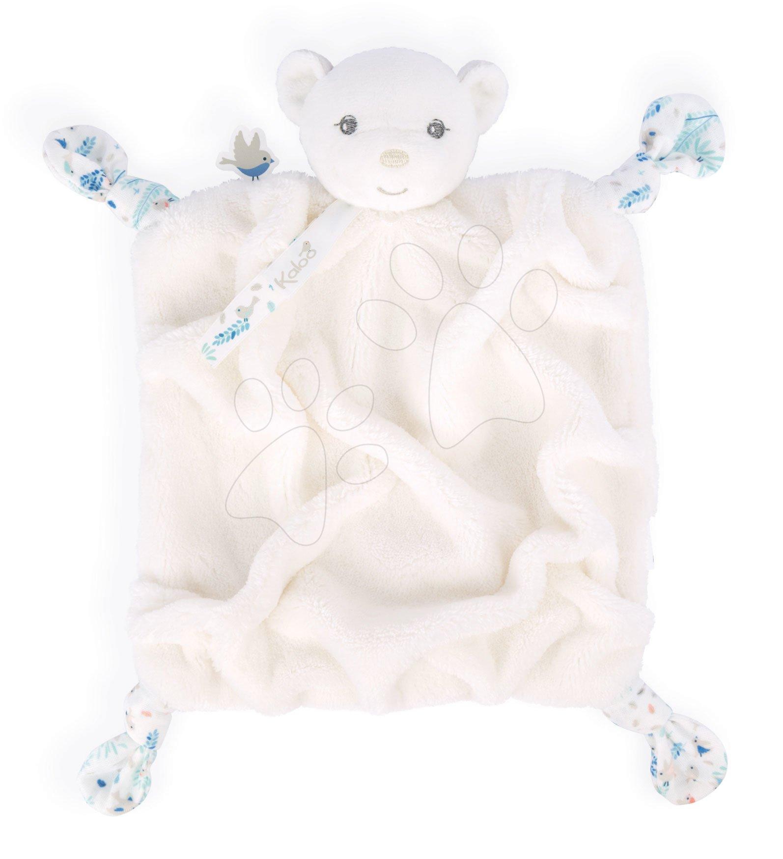 Plyšový medveď maznáčik Plume Doudou Bear Ivory Kaloo biely 20 cm pre bábätká v darčekovom balení od 0 mes