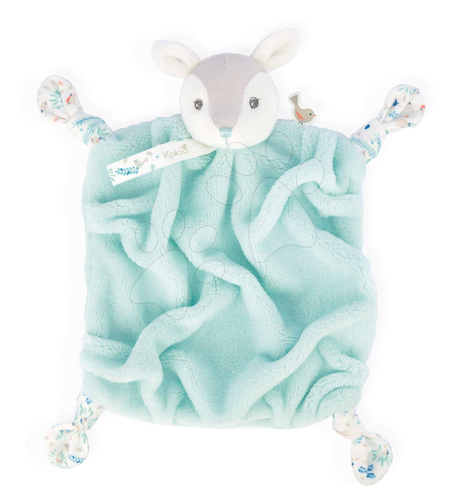 Plyšová srnka maznáčik Plume Doudou Fawn Water Kaloo tyrkysový 20 cm pre bábätká v darčekovom balení od 0 mes