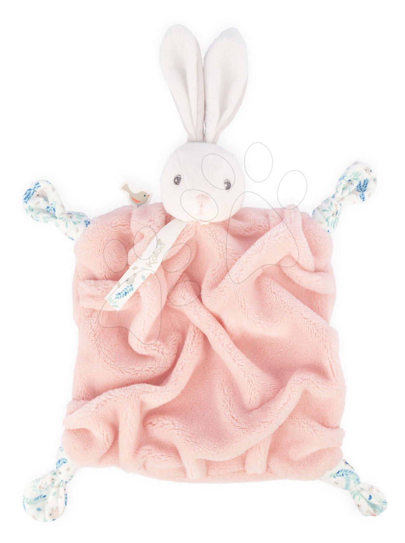 Plyšový zajačik maznáčik Plume Doudou Rabbit Powder Pink Kaloo ružový 20 cm pre bábätká v darčekovom balení od 0 mes