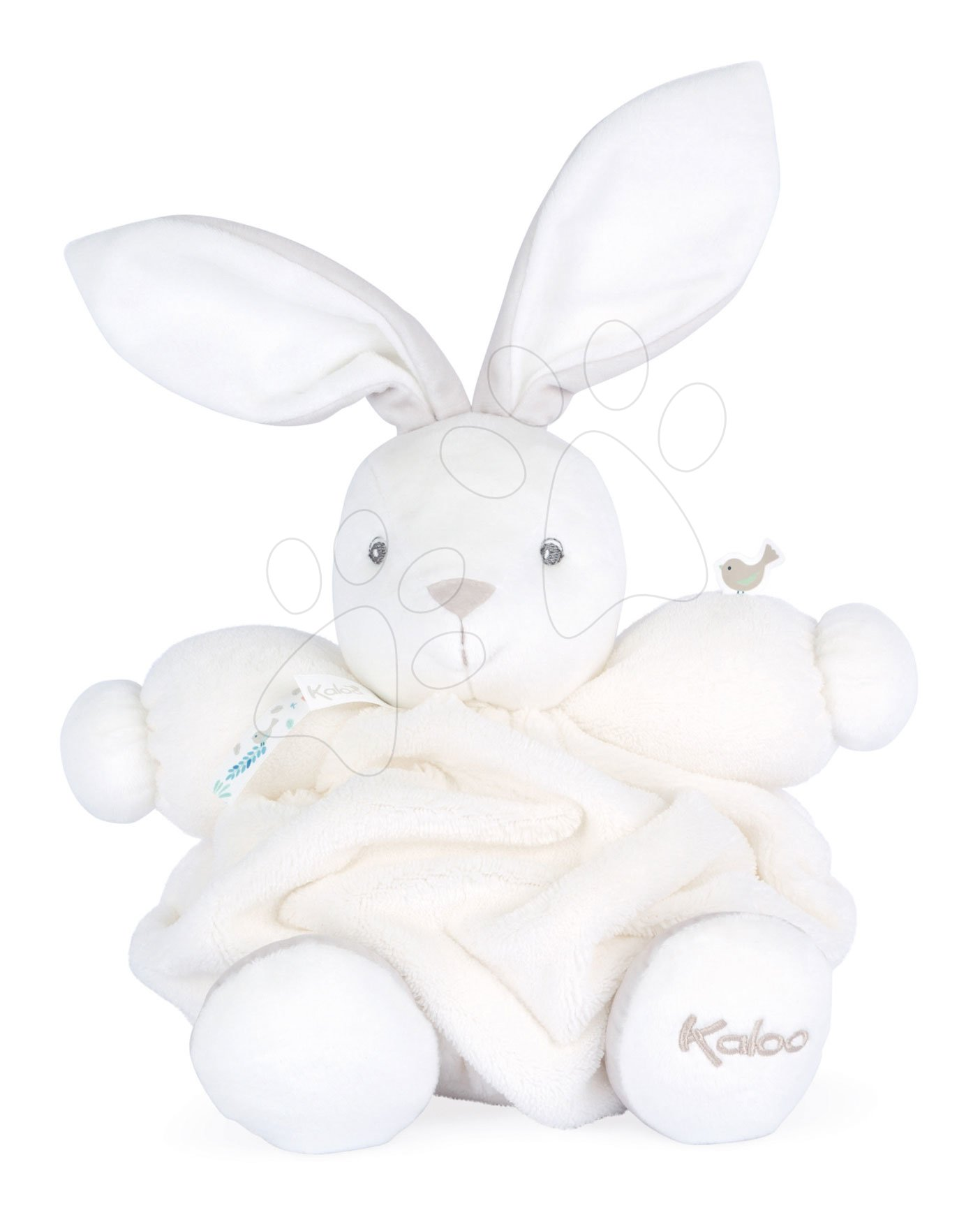 Plyšový zajíček Chubby Rabbit Ivory Plume Kaloo bílý 25 cm z jemného měkkého materiálu v dárkovém balení od 0 měsíců