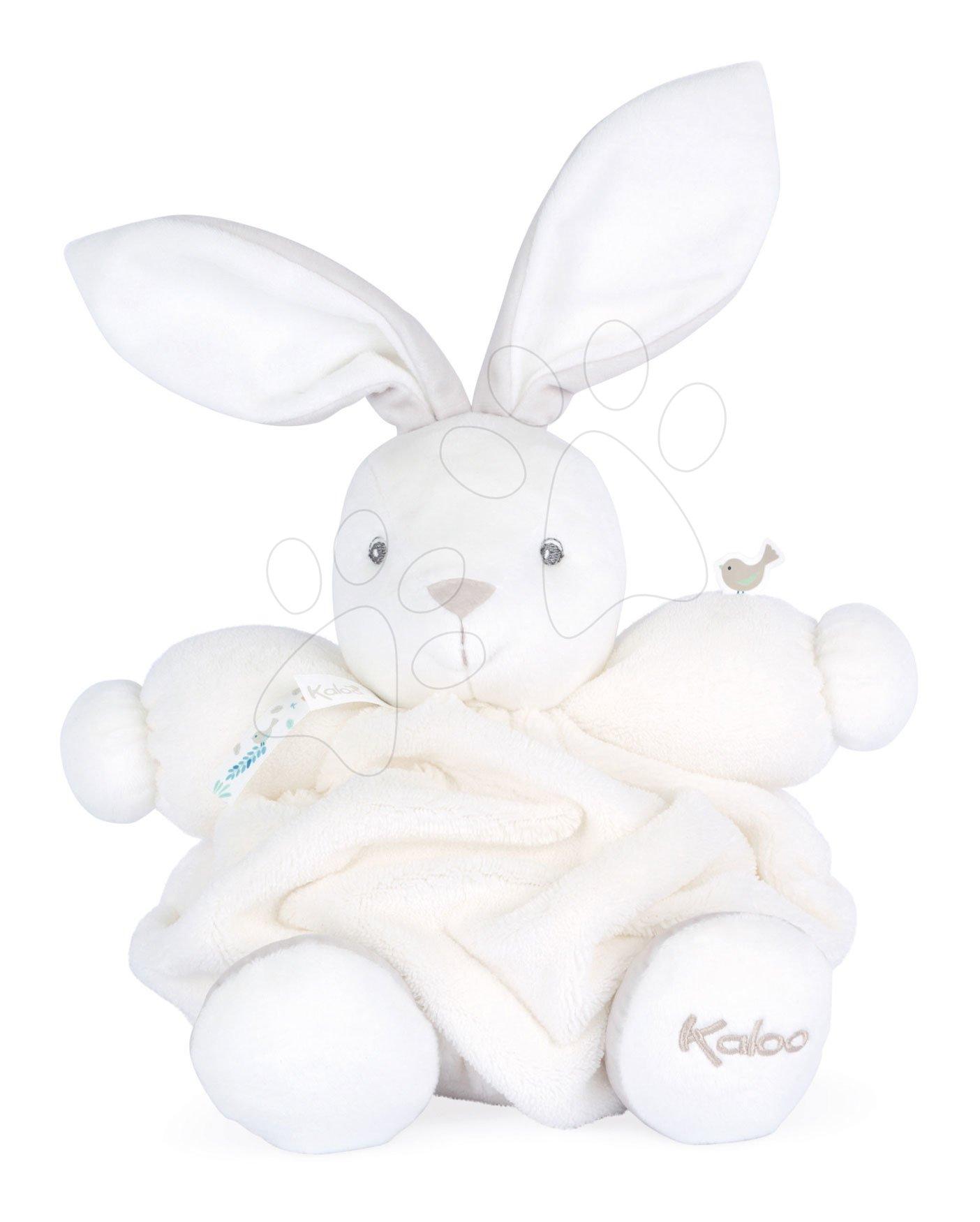Plyšový zajačik Chubby Rabbit Ivory Plume Kaloo biely 25 cm z jemného mäkkého materiálu v darčekovom balení od 0 mes