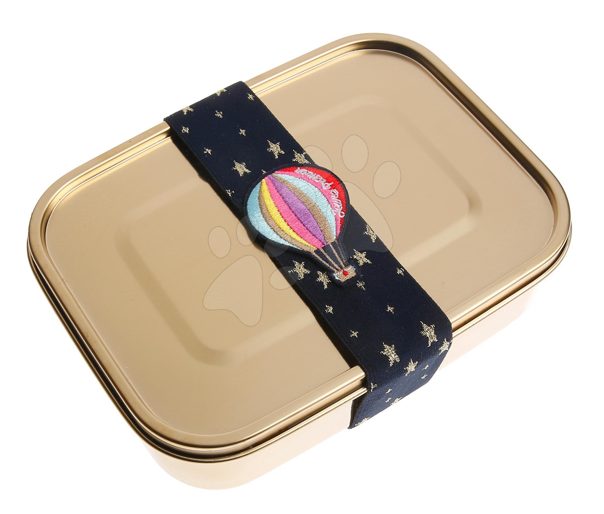 Box na desiatu Stainless Steel Lunchbox Girls Classic gold Balloons Jeune Premier 100% nehrdzavejúca oceľ luxusné prevedenie 21*7 cm