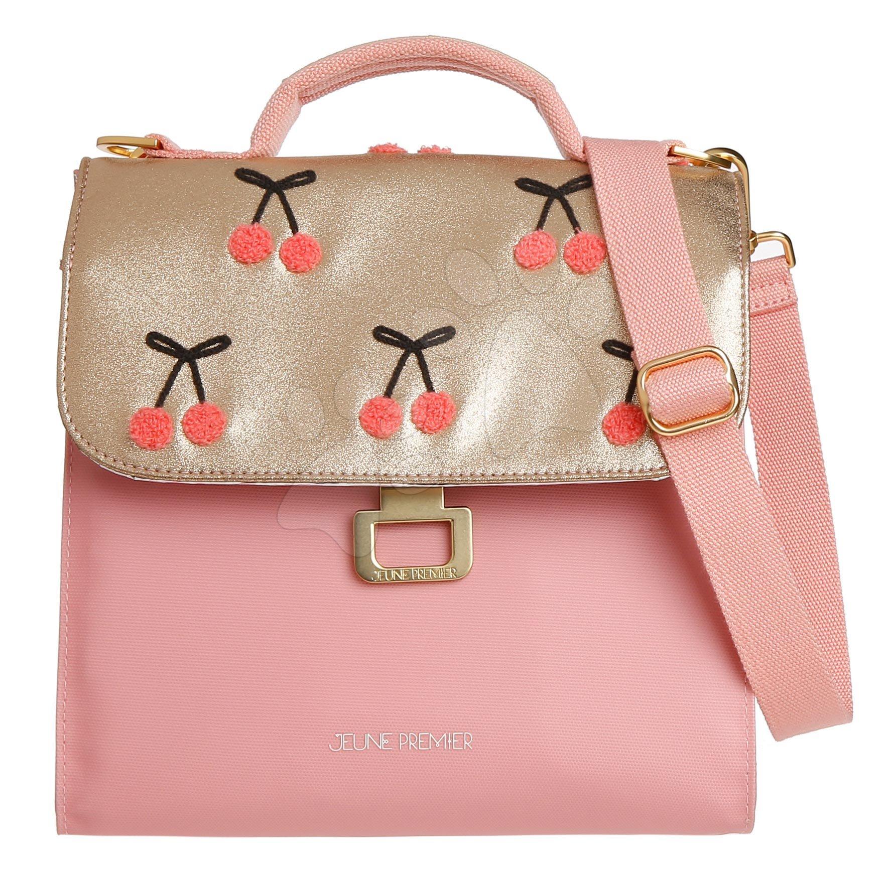 Box na svačinu Lunch Bag Cherry Pompon Jeune Premier ergonomický luxusní provedení 22*24 cm