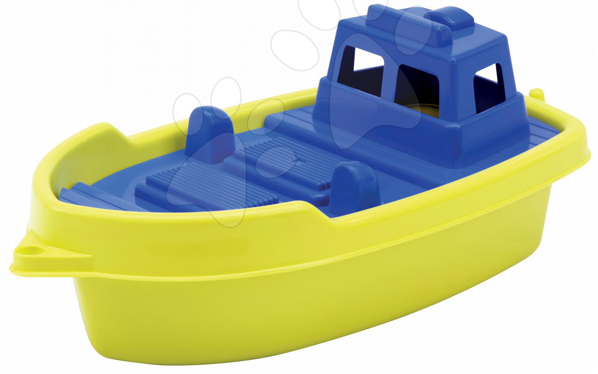 Ladjica za v vodo Écoiffier (dolžina 33,5 cm) rumeno-modra od 18 mes