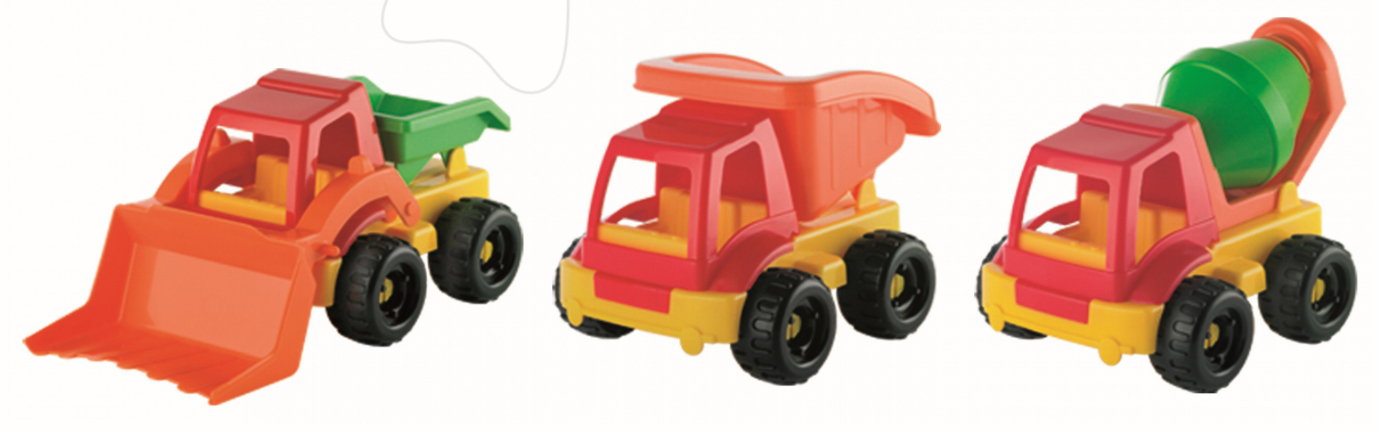 Autíčko Écoiffier pracovní - buldozer, sklápěč, míchačka délka 20 cm od 18 měsíců