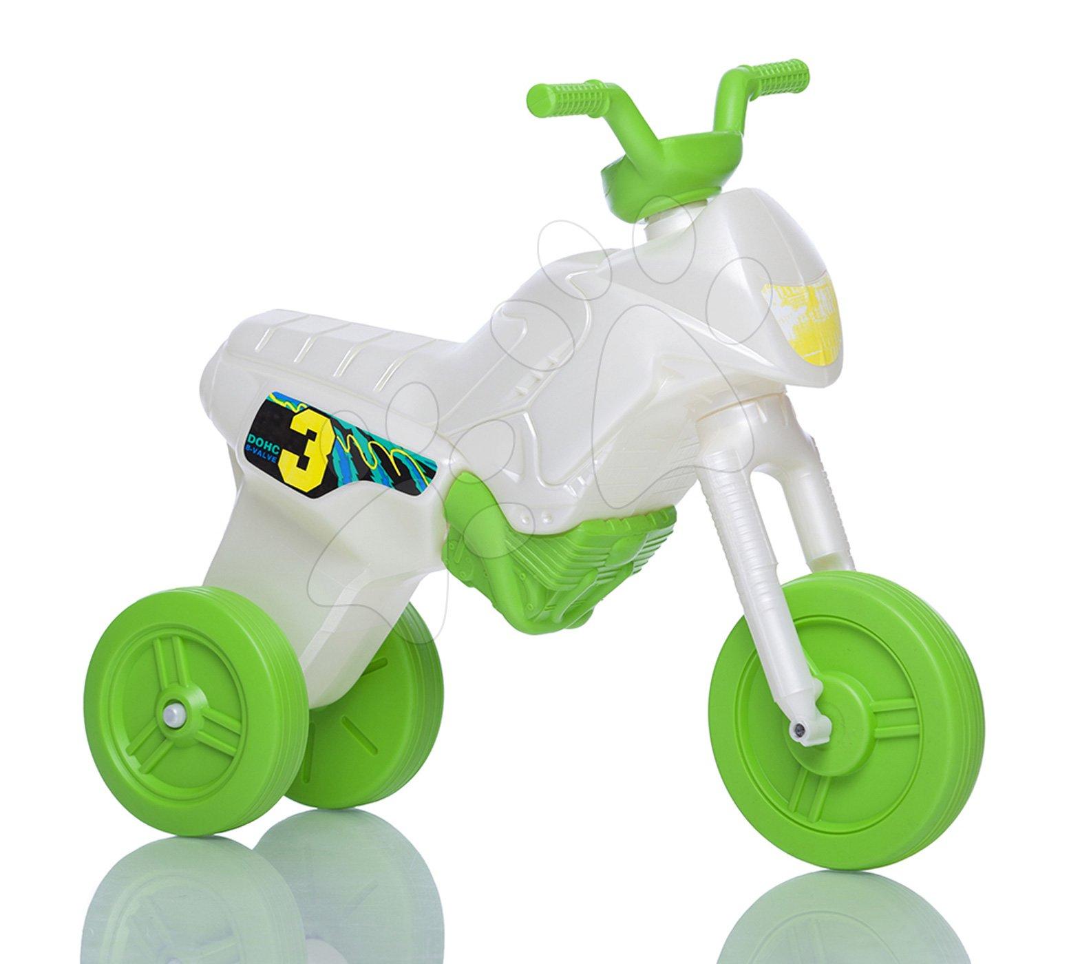 Motorky - Veľké odrážadlo Enduro bielo-zelené od 24 mes