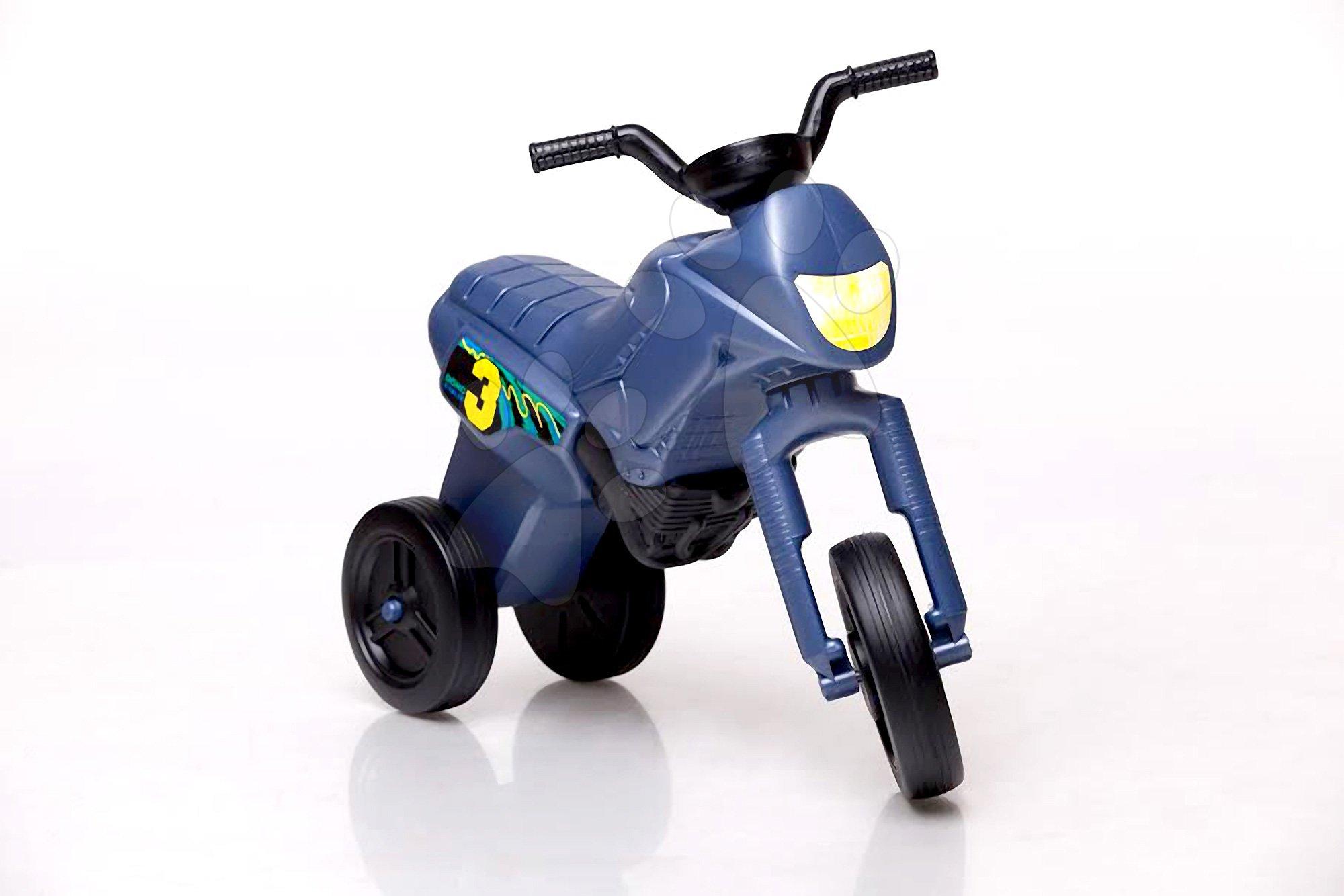 Motorky - Odrážadlo Enduro malé oceľovomodré od 18 mes