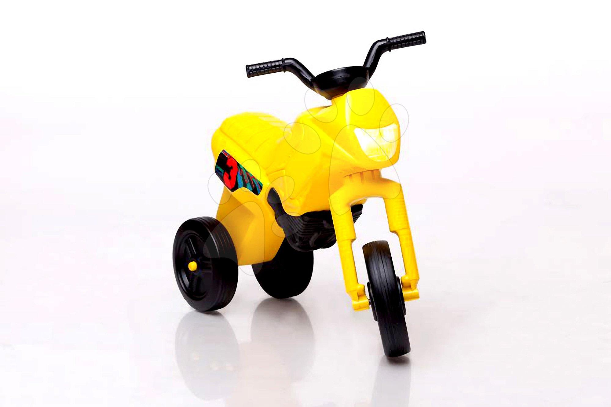 Motorky - Odrážadlo Enduro malé žlté od 18 mes