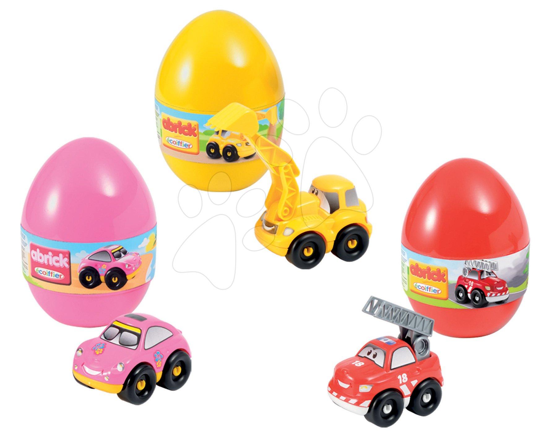 Abrick Écoiffier stavebnica pre deti vo vajíčku Rýchle autá s 3 autami P16108