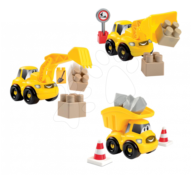 Stavebnice pracovní autíčko Abrick Écoiffier buldozer/bagr/nákladní auto 10-12 dílů od 18 měsíců