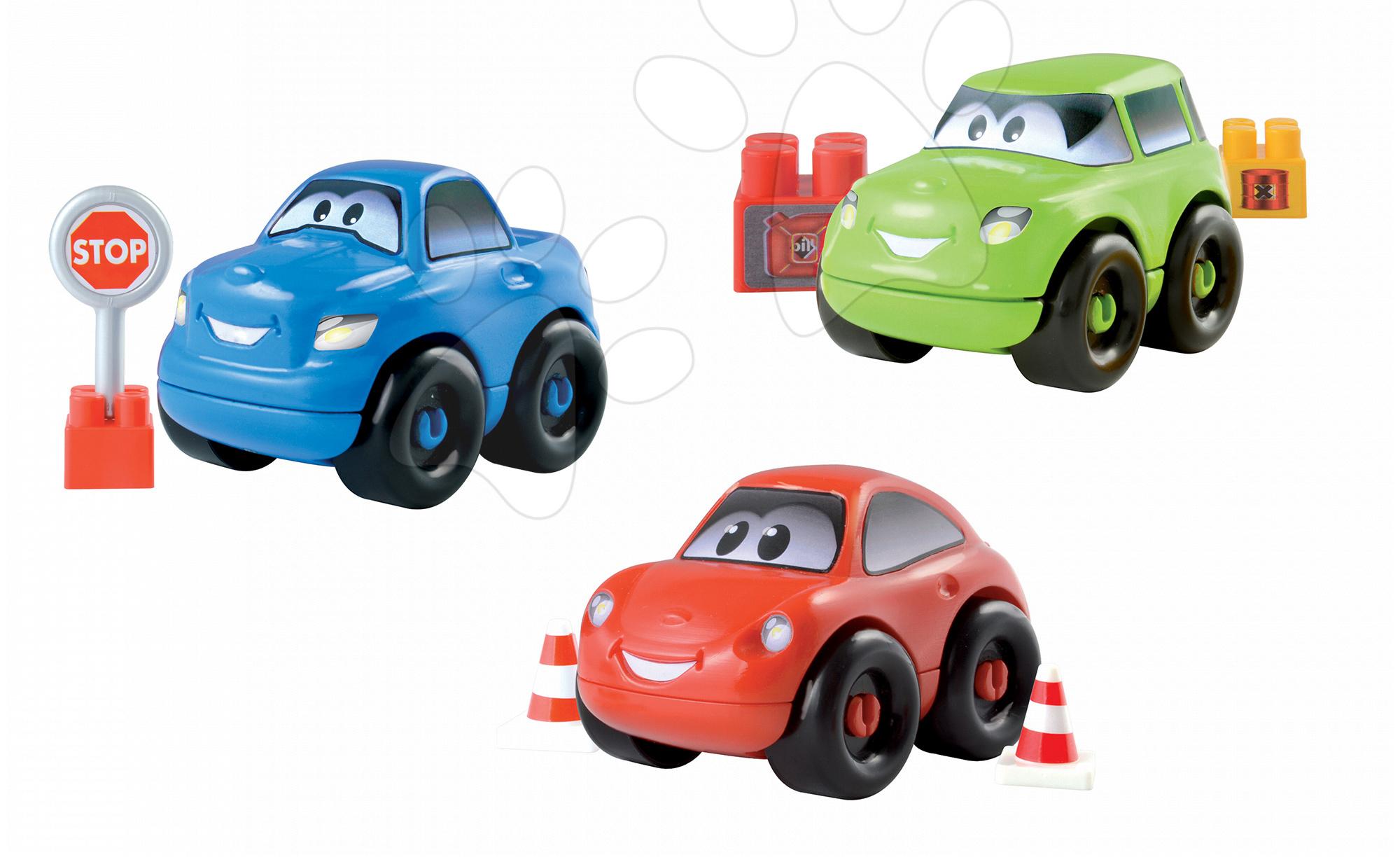 Stavebnica autíčko Abrick Écoiffier 8 dielov červené/zelené/modré od 18 mes