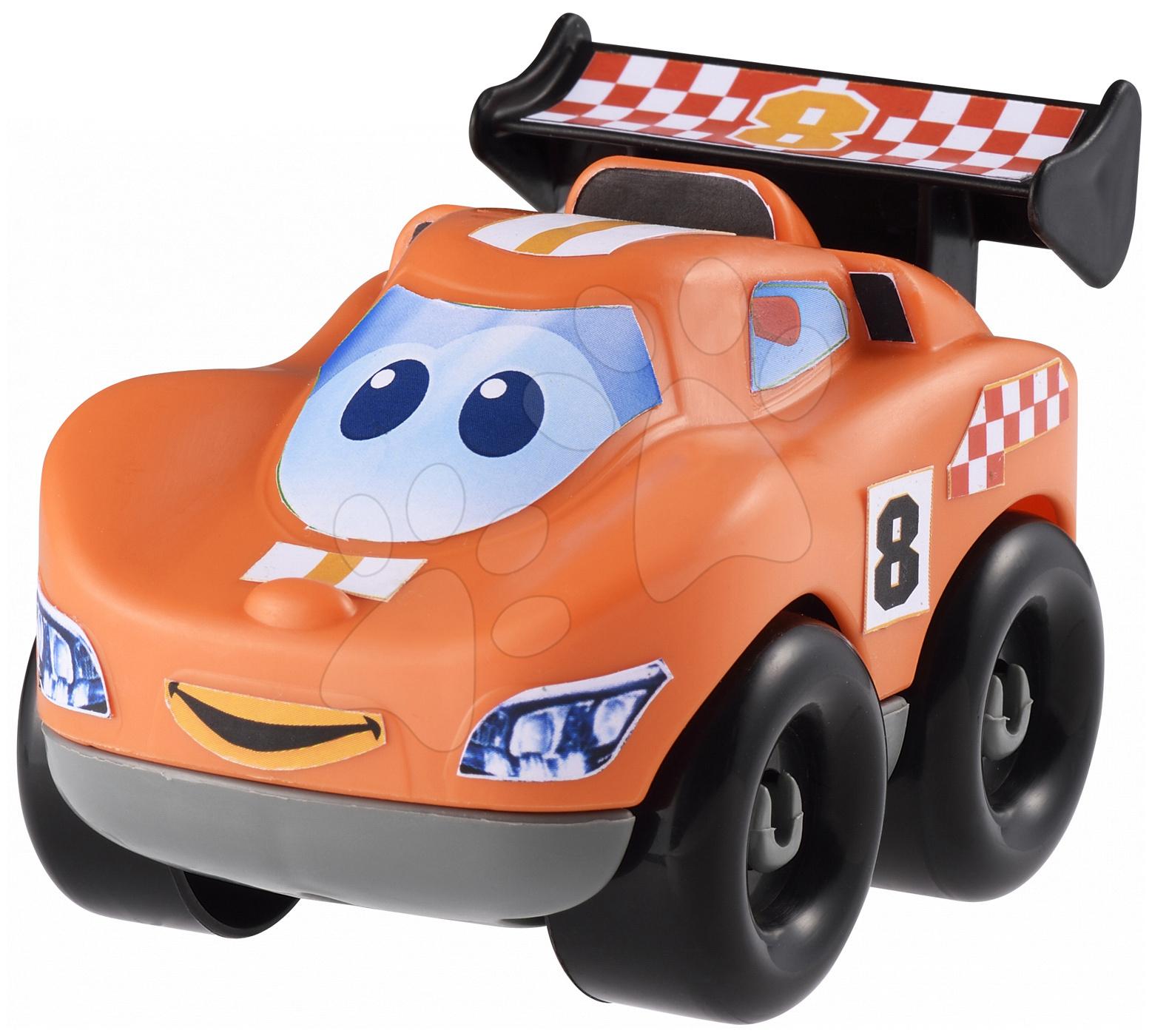 Stavebnice Abrick - Pretekárske autíčko Abrick Écoiffier oranžové od 18 mes