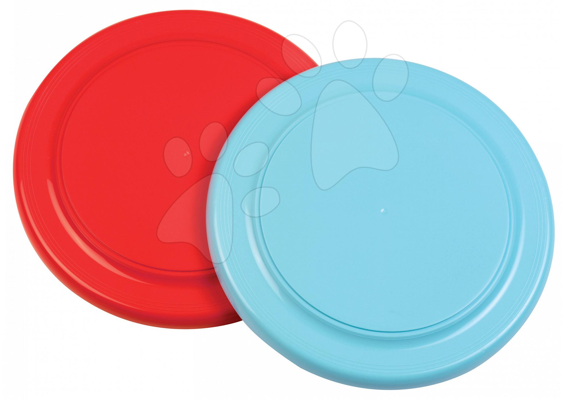 Létající talíř Écoiffier průměr 22,5 cm bleděmodrý/červený od 18 měsíců
