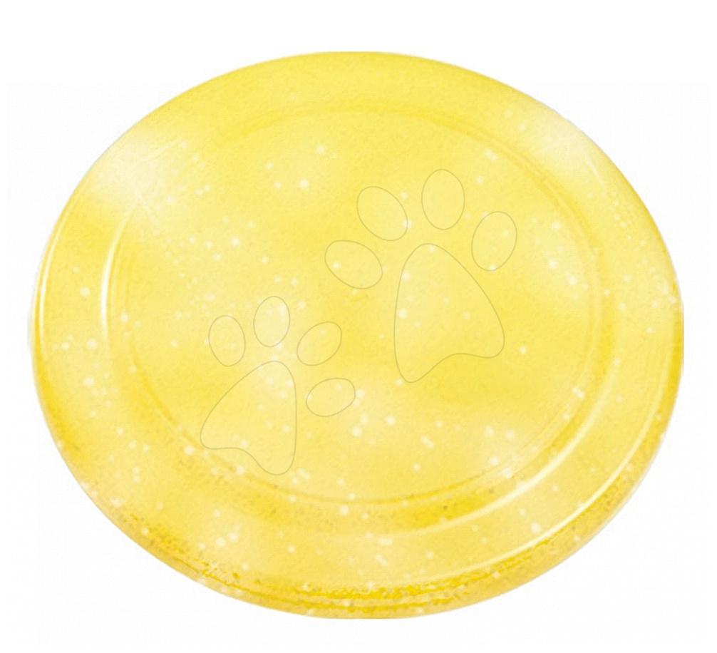 Lietajúci tanier Écoiffier s trblietkami priemer 23 cm žltý od 18 mes