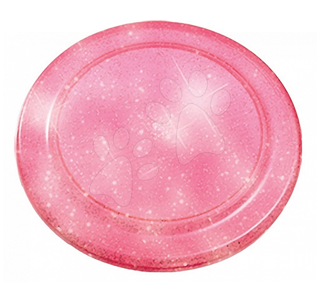 Lietajúci tanier s trblietkami Écoiffier priemer 23 cm ružový od 18 mes