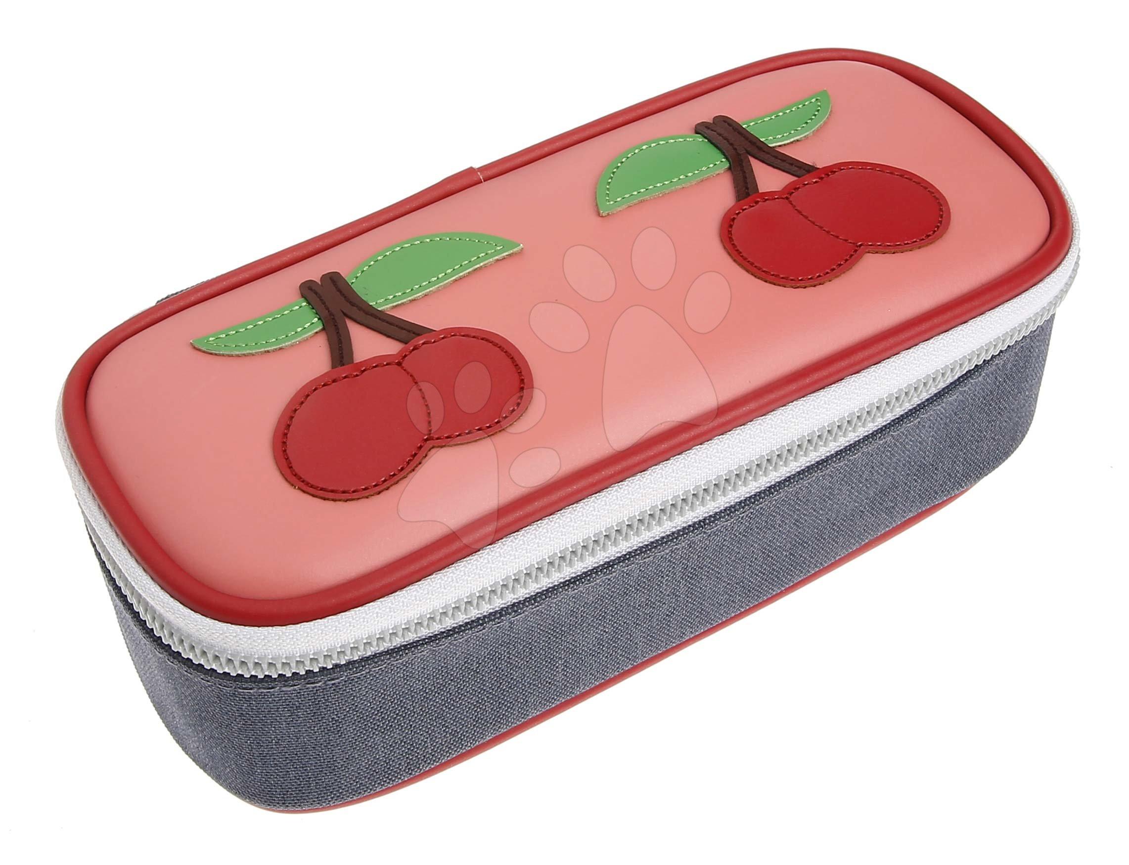 Školský peračník Pencil Box Cherry Pink Jeune Premier ergonomický luxusné prevedenie 22*7 cm