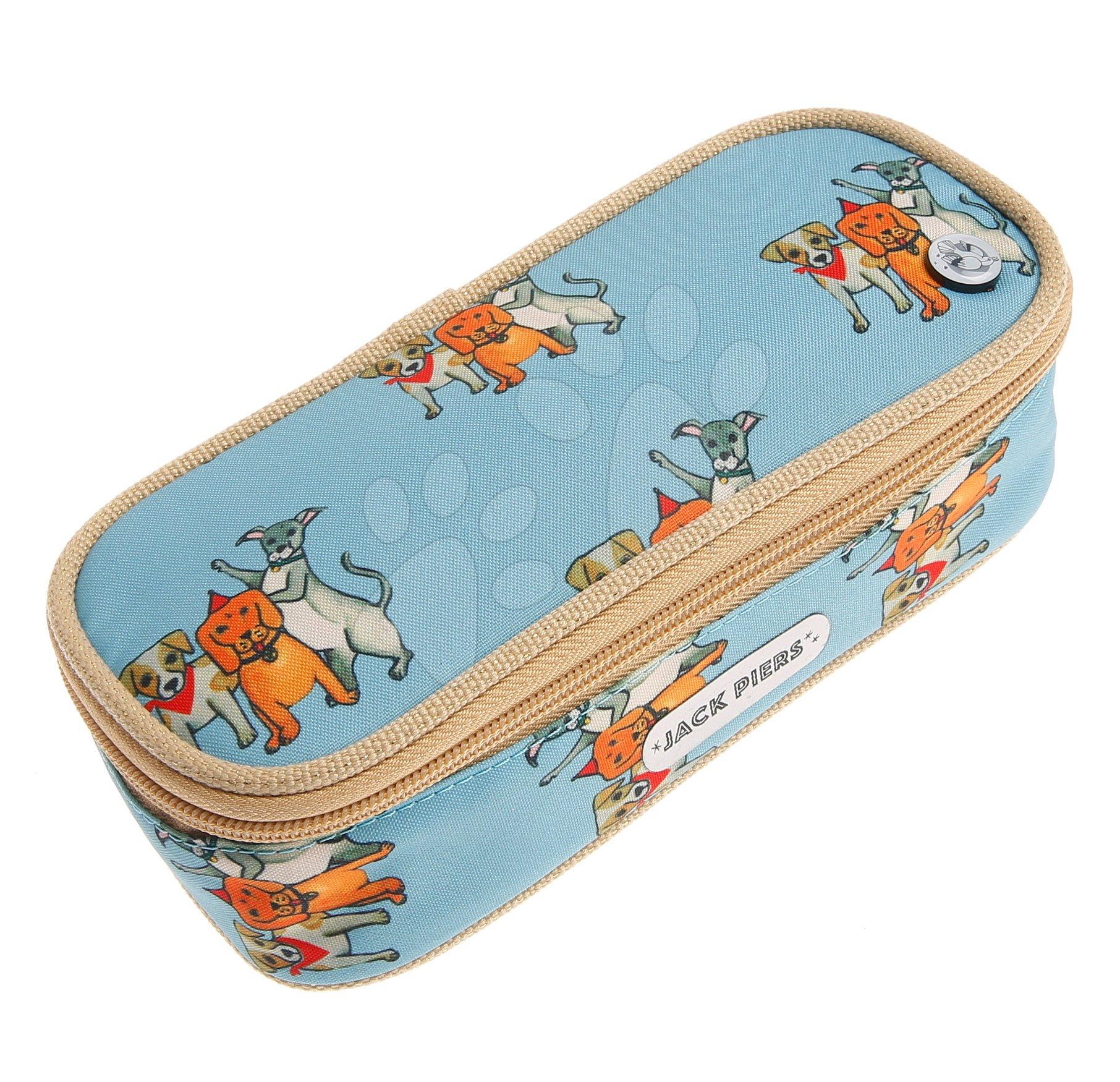Školský peračník Pencil Case Party Dogs Jack Piers ergonomický luxusné prevedenie od 2 rokov 22*7*9 cm